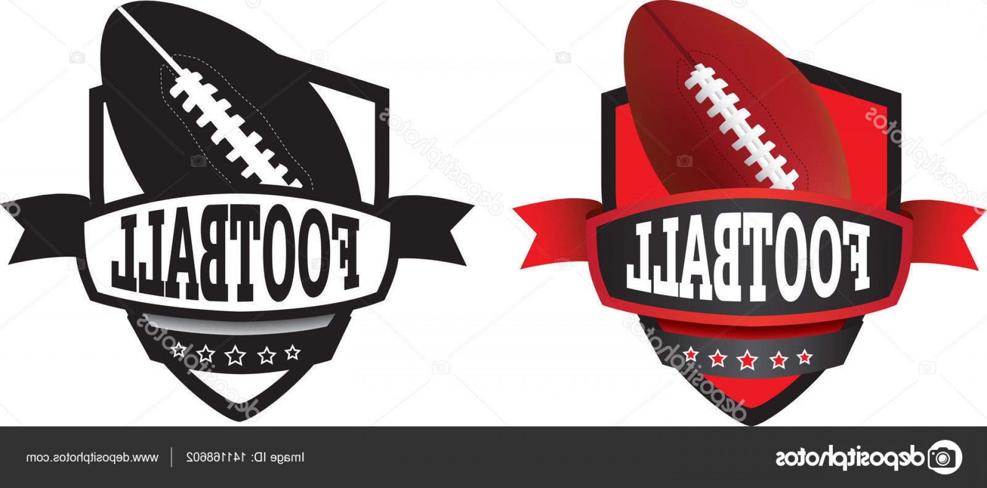 High Res Vector American Football: Stock Illustration American Football Logo Or Badge