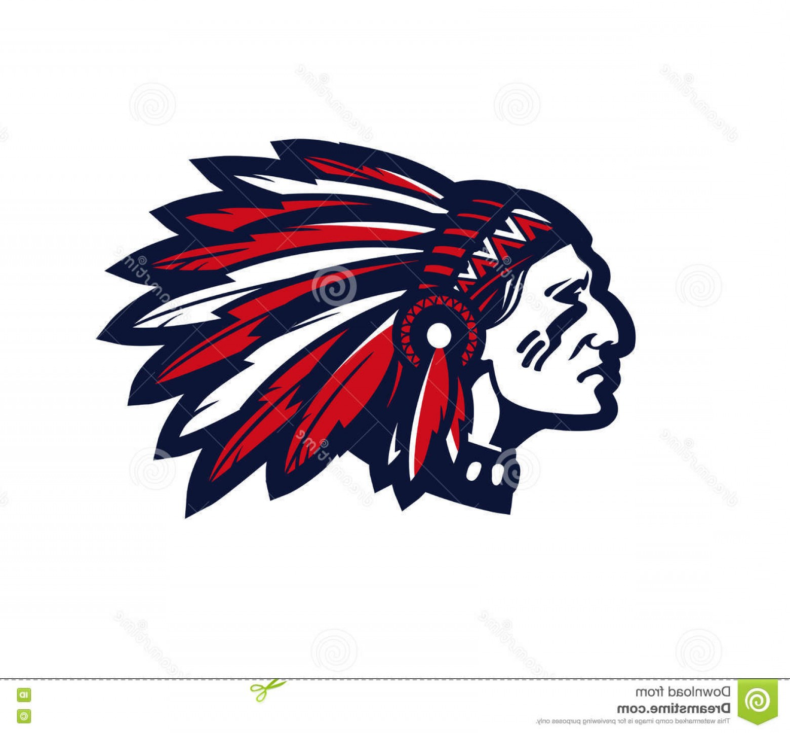 American Indian Chief Vector: Stock Illustration American Indian Chief Vector Logo Icon Isolated White Background Image