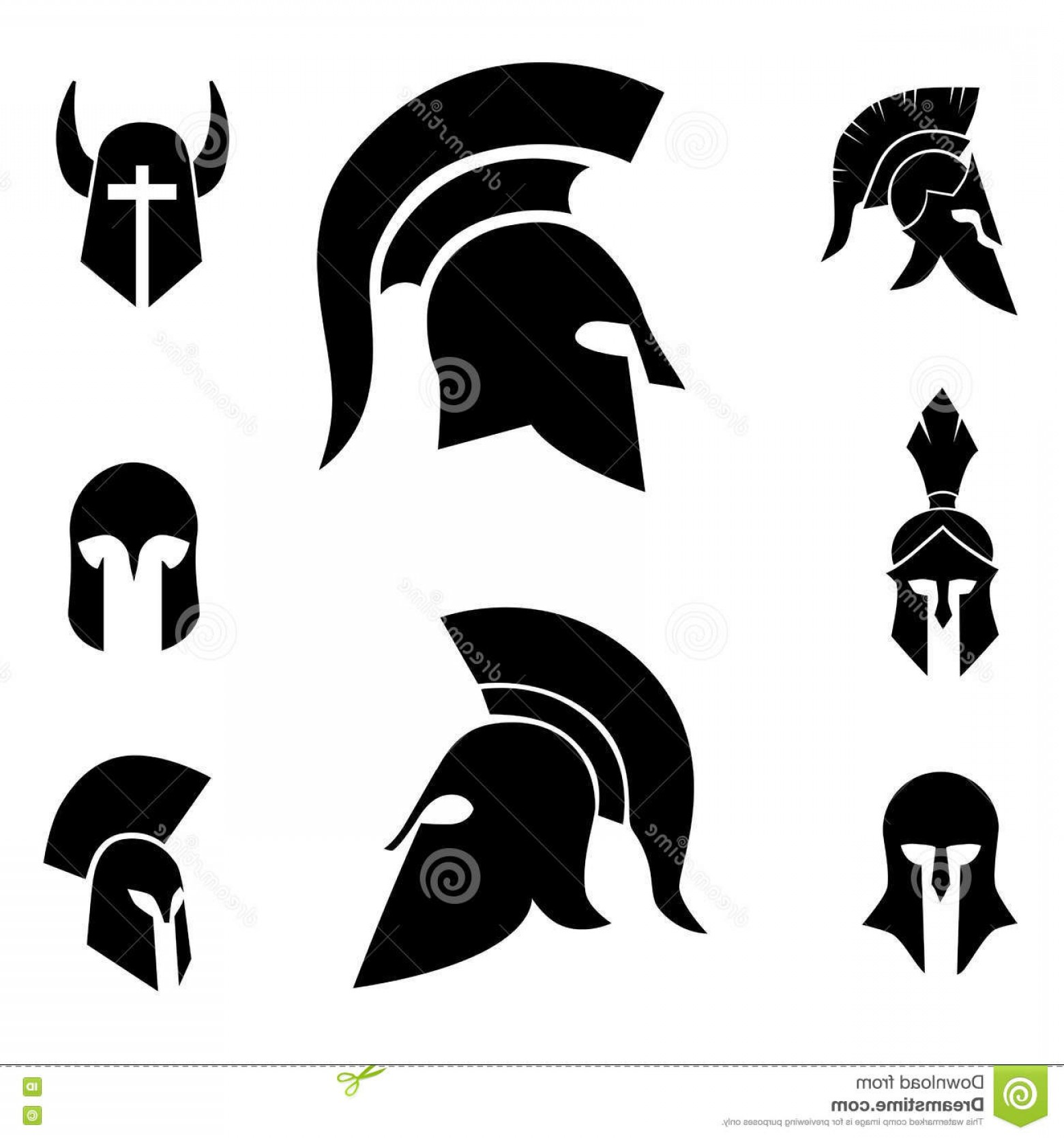 Warrior Vector Art: Stock Illustration Ancient Spartan Warrior Soldier Helmet Vector Art Medieval Soldiers Knights Helmets Image