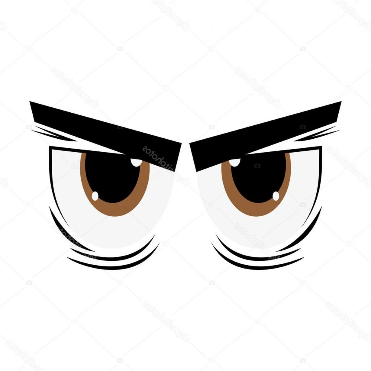Angry Eyebrow Vector: Stock Illustration Angry Cartoon Eyes Icon