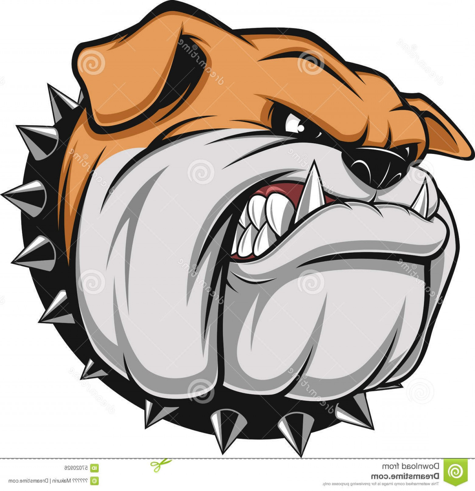 Dog Mascot Vector: Stock Illustration Angry Dog Vector Illustration Bulldog Mascot Head White Background Image