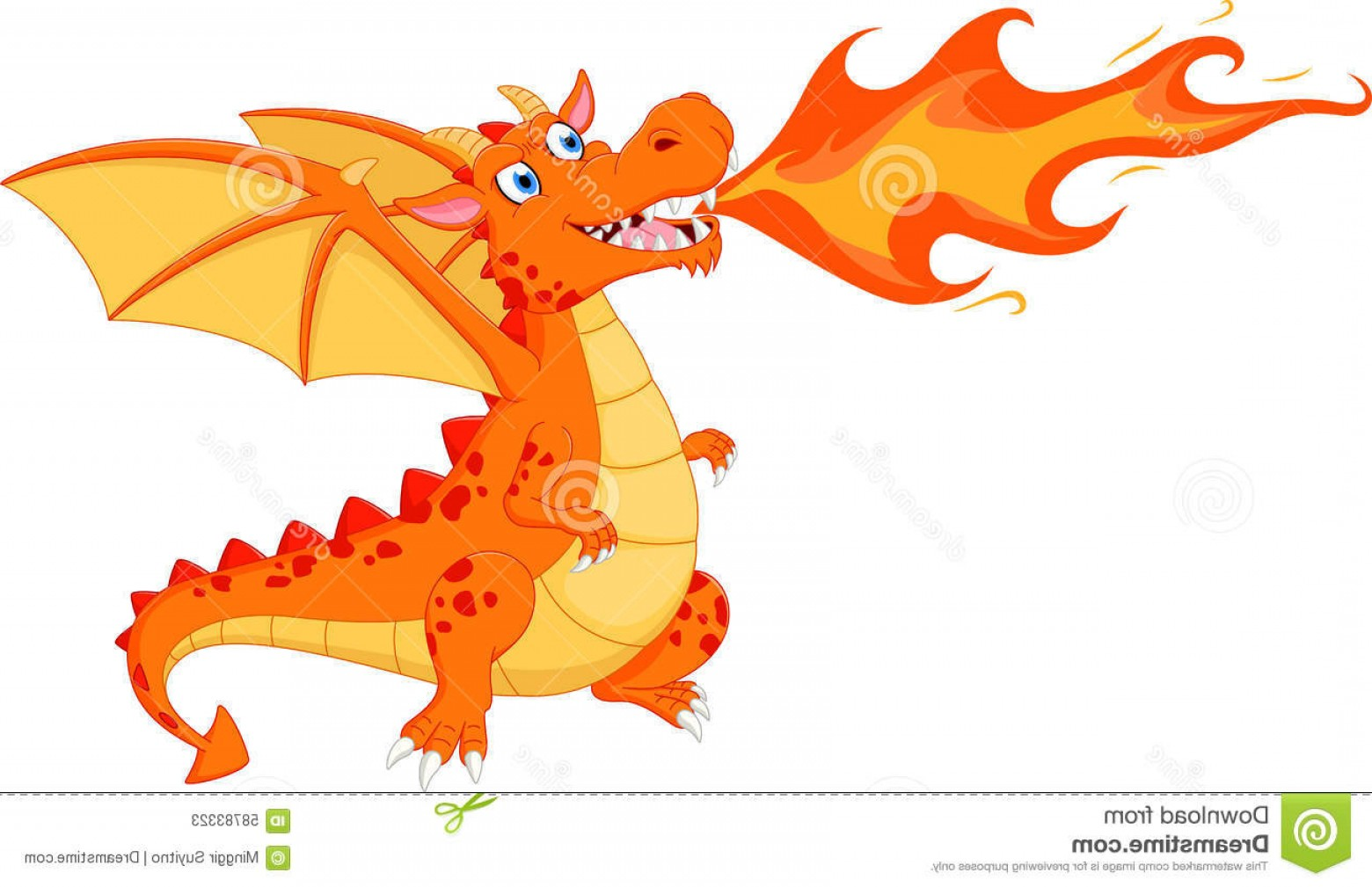 Dragon Fire Vector: Stock Illustration Angry Dragon Fire Illustration Isolated White Image