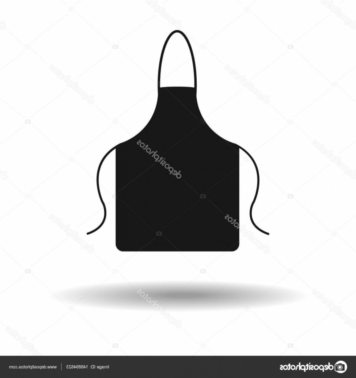 Apron Vector: Stock Illustration Apron Icon Kitchen Apron Vector