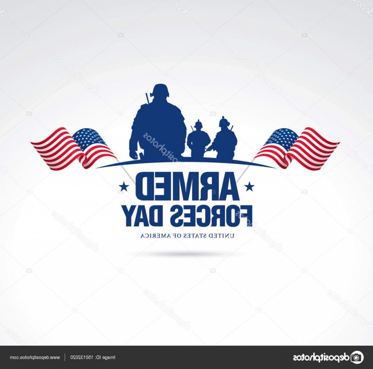 United States Armed Forces Logo Vector: Stock Illustration Armed Forces Day Banner