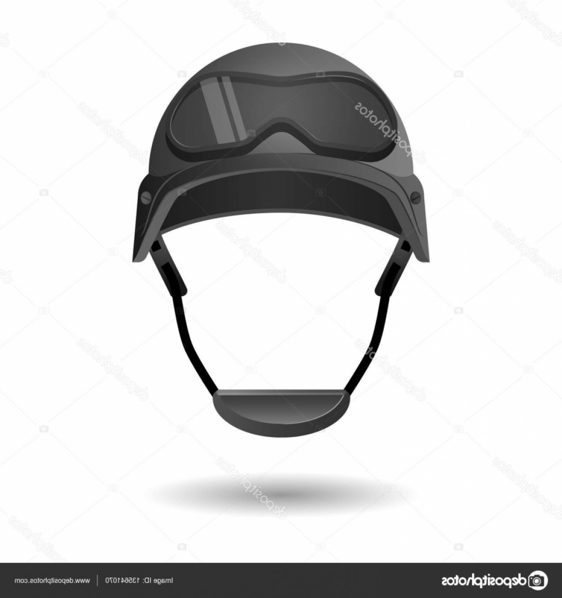 Fighter Helmet Vectors: Stock Illustration Army Helmet With Glasses Military