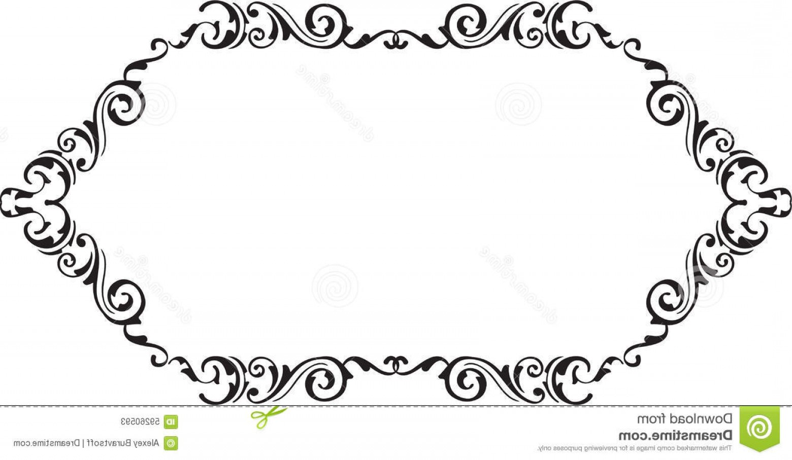 Florid Vector Simple: Stock Illustration Art Vintage Ornamente Scroll Fine Page White Image