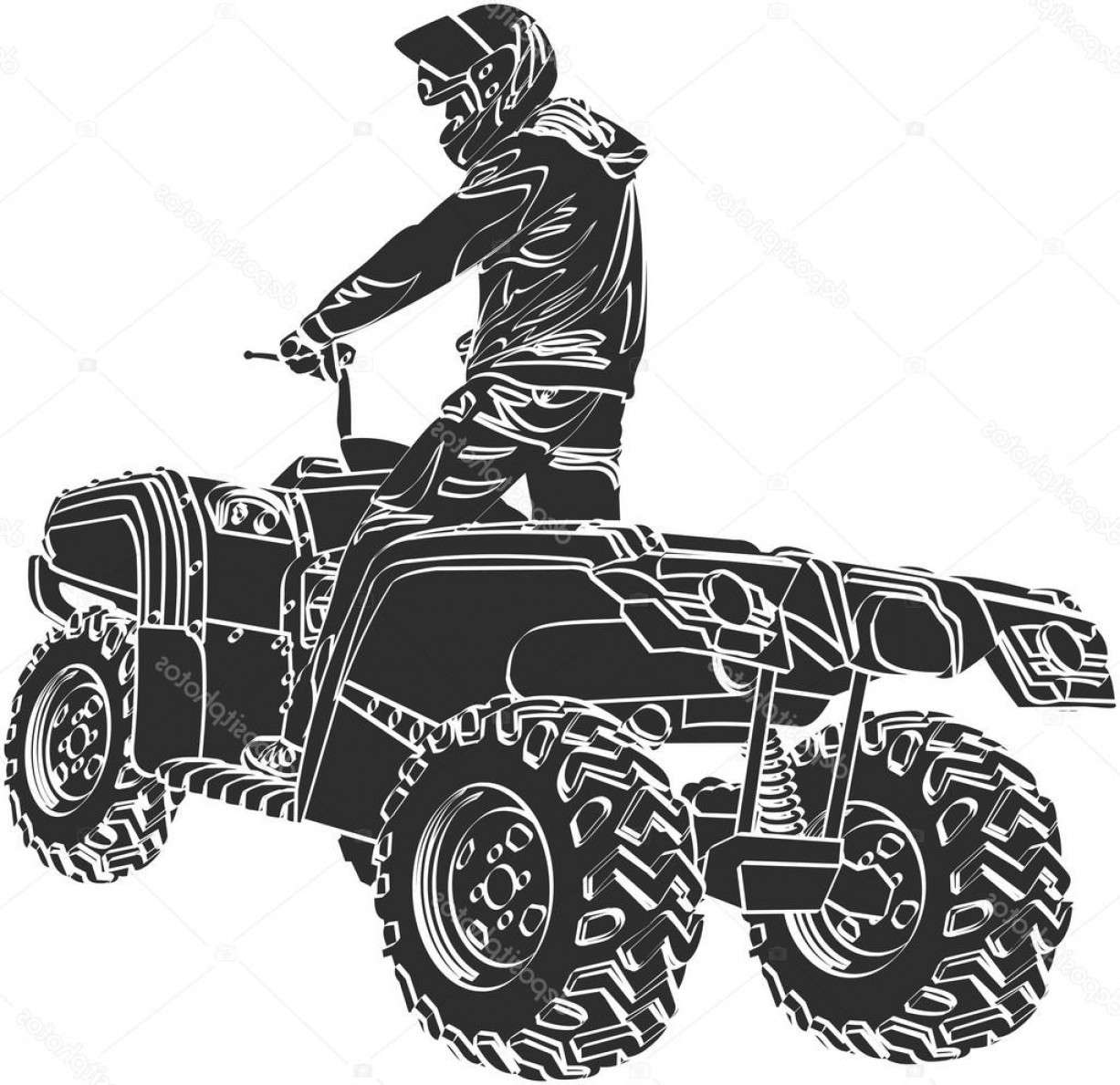 ATV Rider Vector: Stock Illustration Atv Off Road Rider
