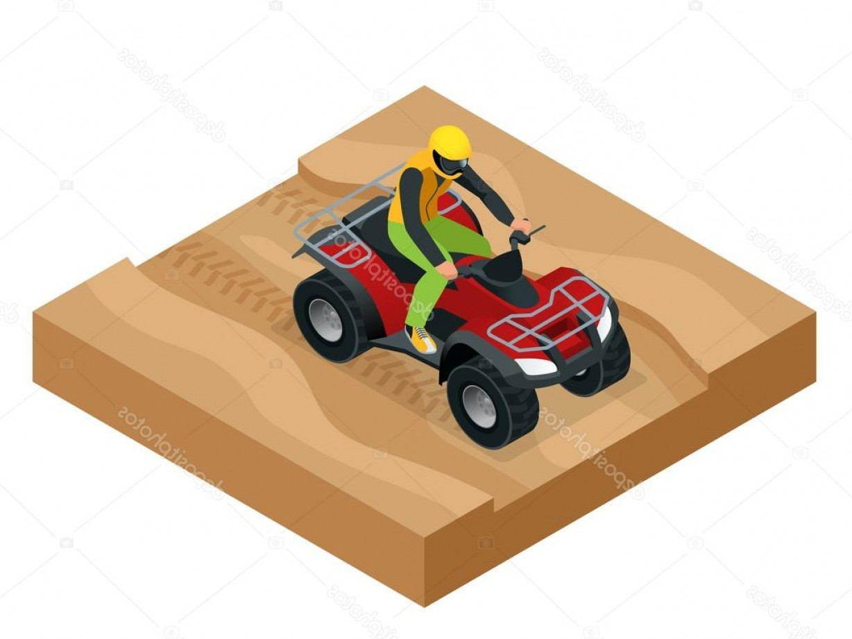 ATV Rider Vector: Stock Illustration Atv Rider In The Action