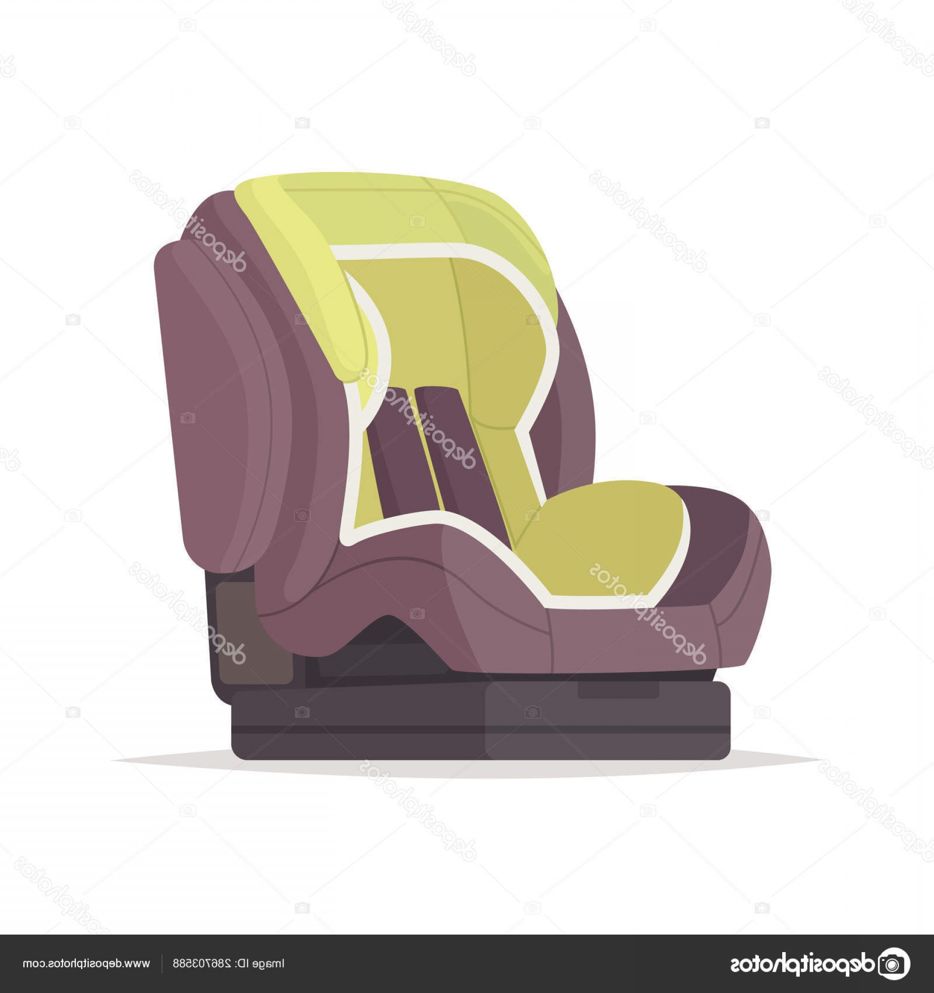 Vector Baby Seat: Stock Illustration Baby Car Seat On A