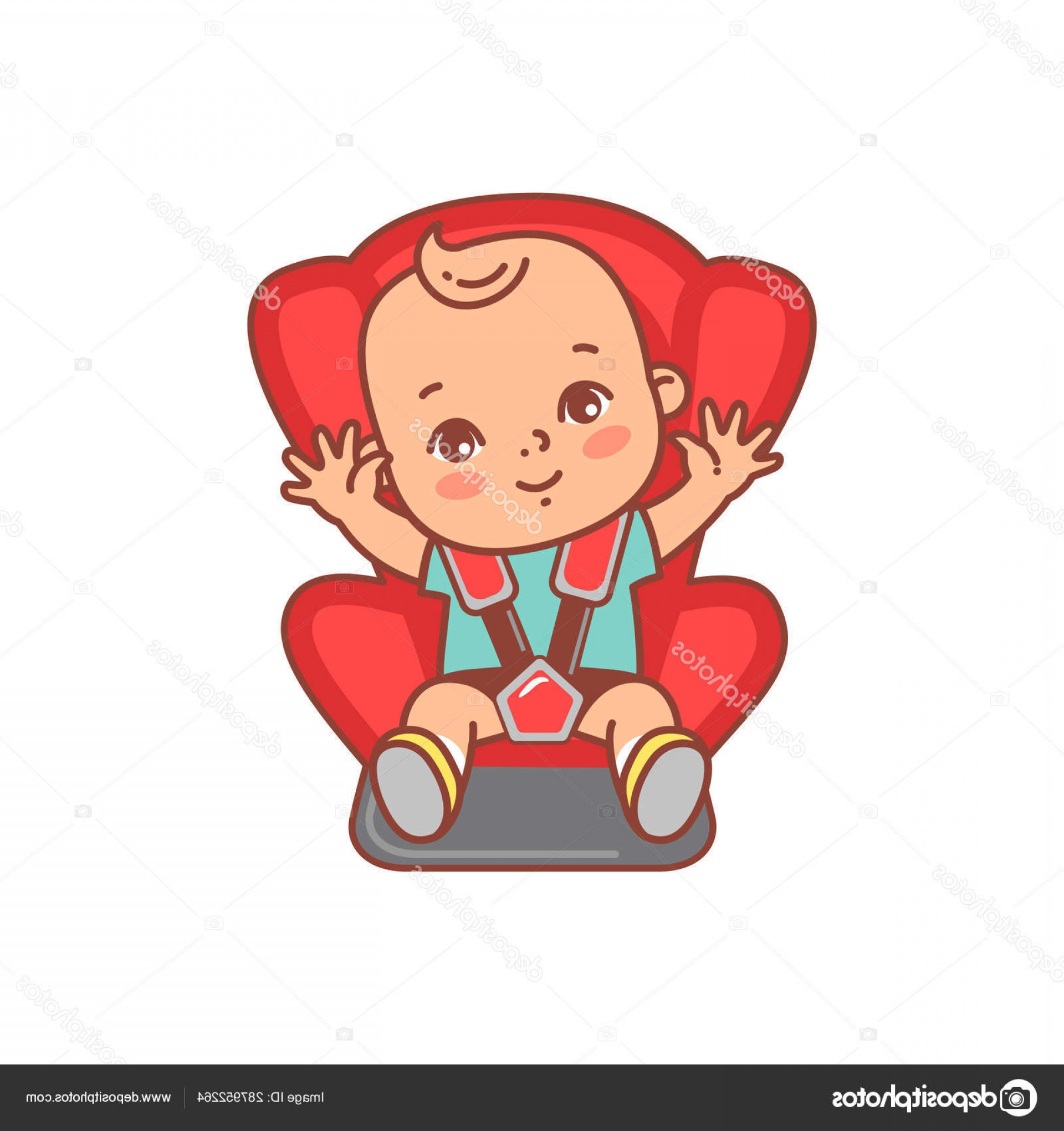 Vector Baby Seat: Stock Illustration Baby Sitting Car Seat Sticker