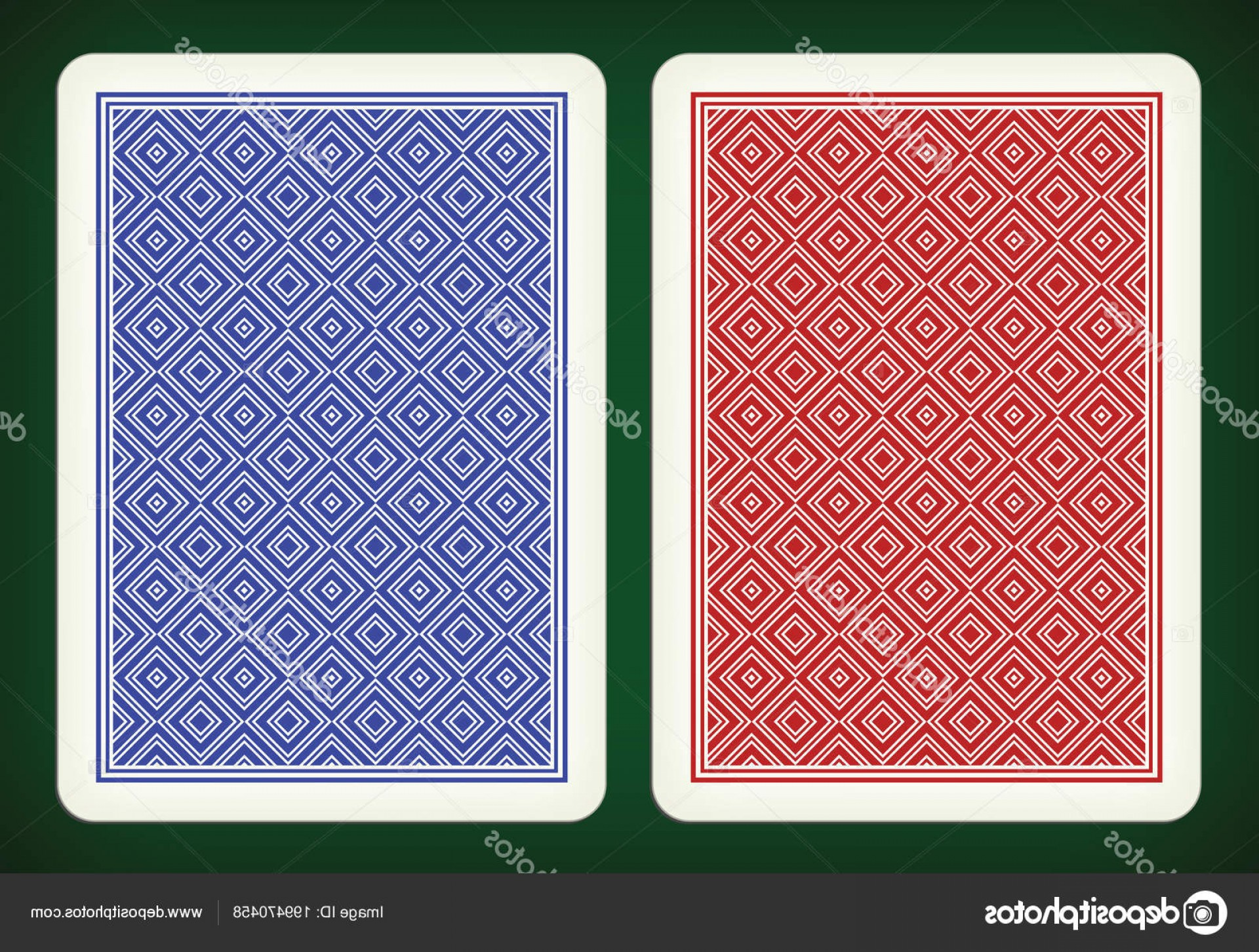 Playing Card Design Vector Illustration: Stock Illustration Back Side Design Playing Cards