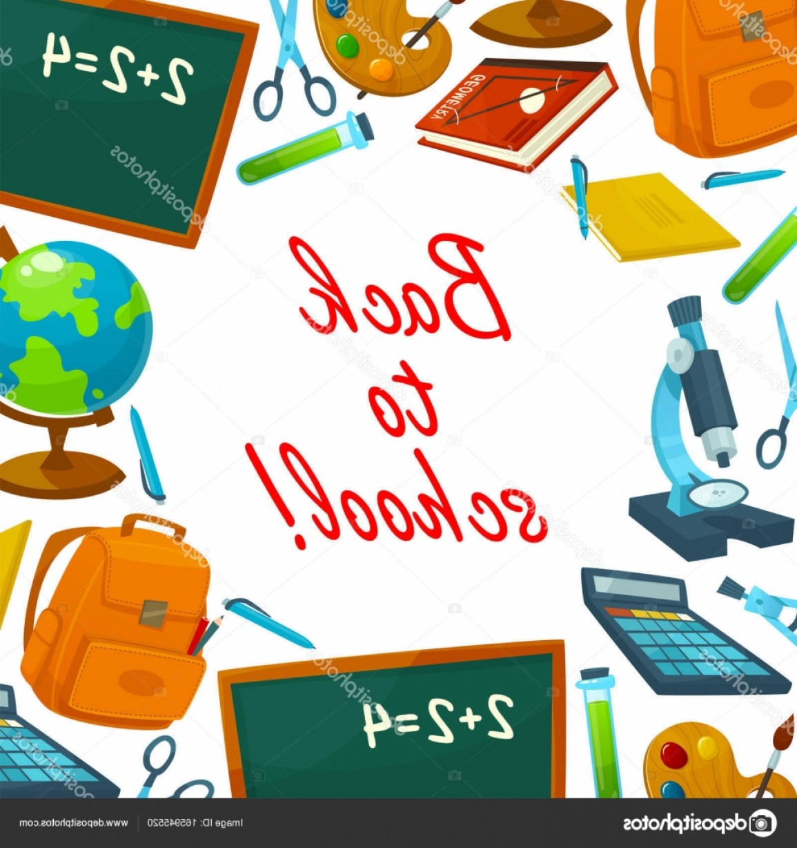 Bible Class Background Vector: Stock Illustration Back To School Education Background