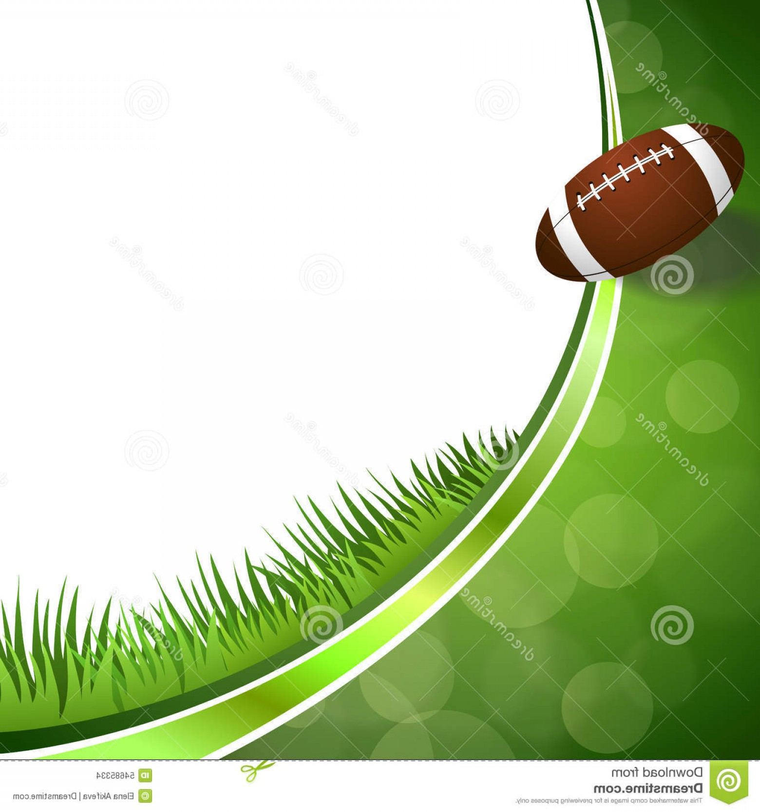 Football Vector Wallpaper: Stock Illustration Background Abstract Green American Football Ball Illustration Vector Image