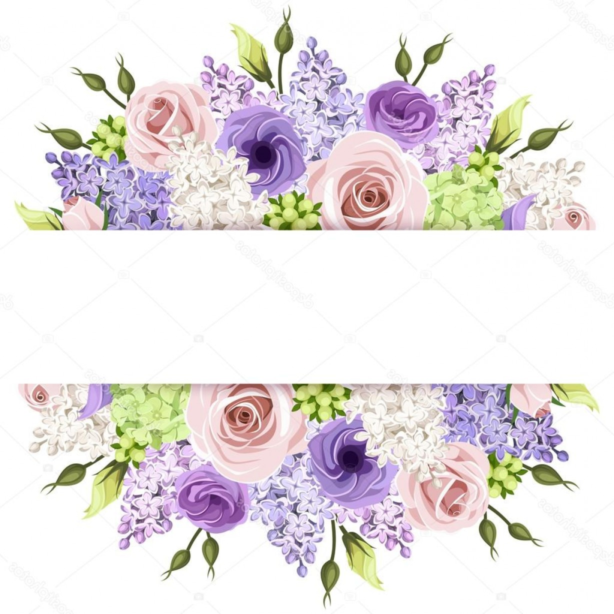 Purple Green And White Vector: Stock Illustration Background With Pink Purple And