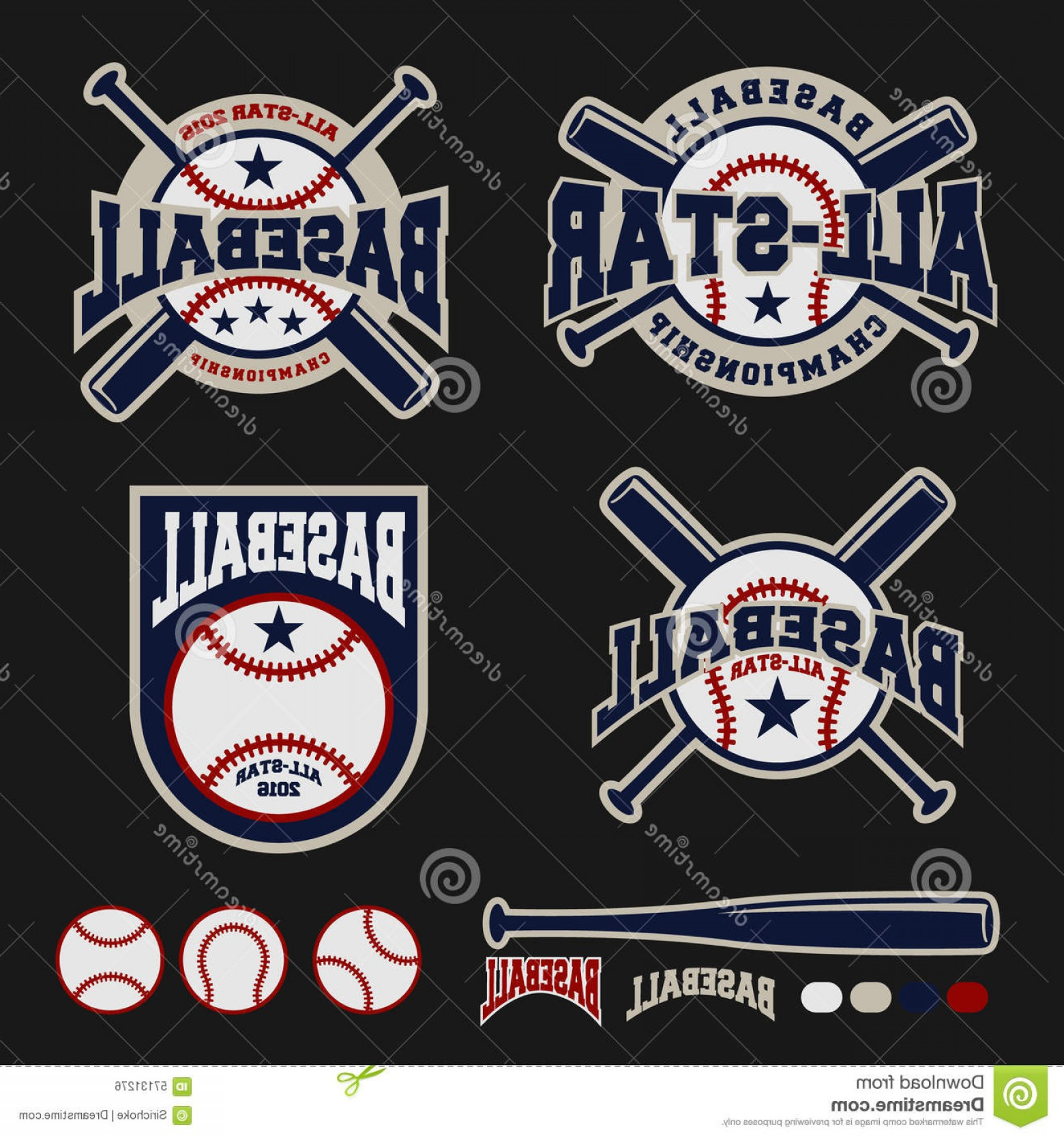 Screen Printing Equipment Vector: Stock Illustration Baseball Badge Logo Design Logos Banner Emblem Label Insignia T Shirt Screen Printing Image