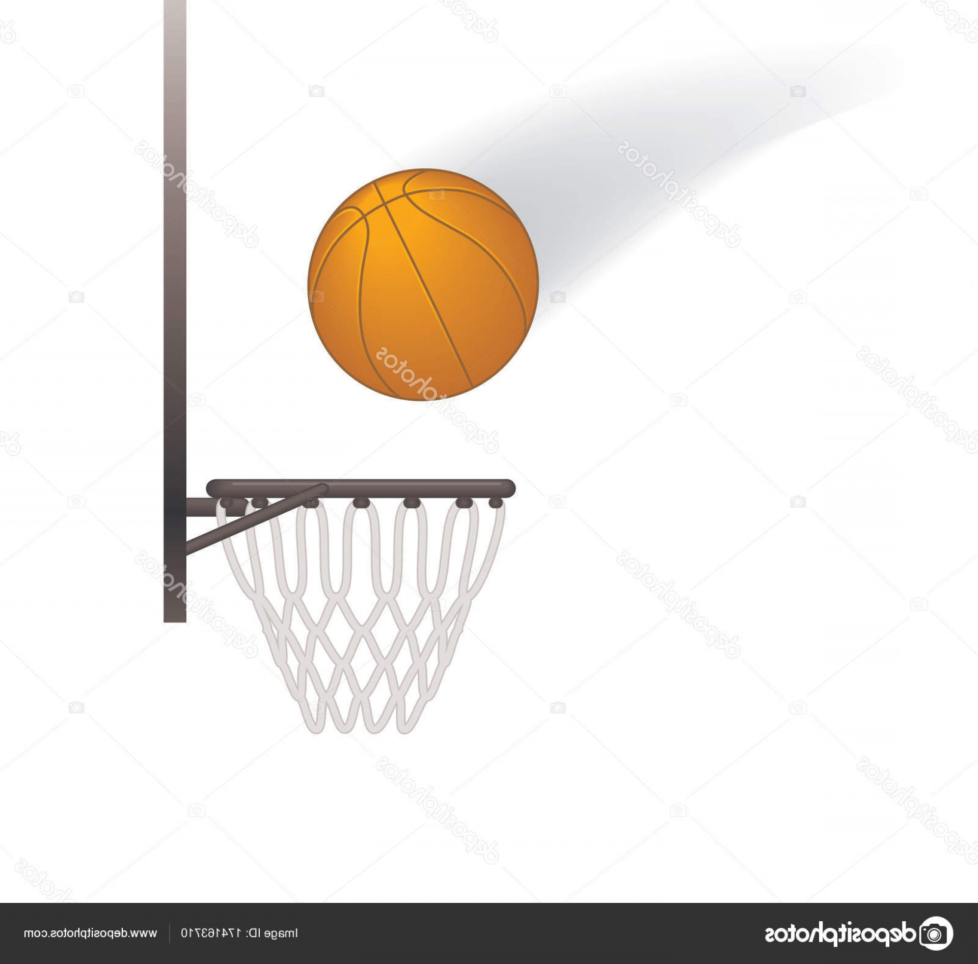 Motion Basketball Vector: Stock Illustration Basketball In Motion Into Basketball