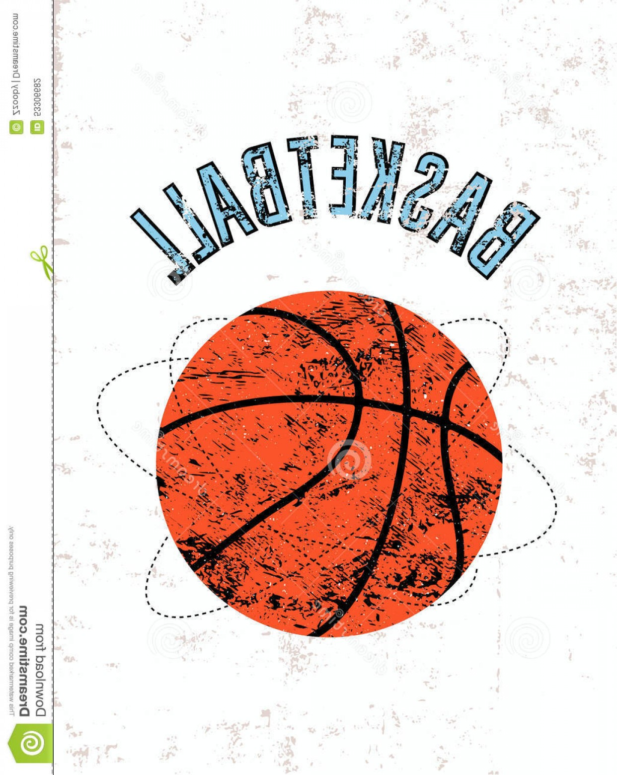 Vintage Basketball Vector: Stock Illustration Basketball Vintage Grunge Style Poster Retro Vector Illustration Image