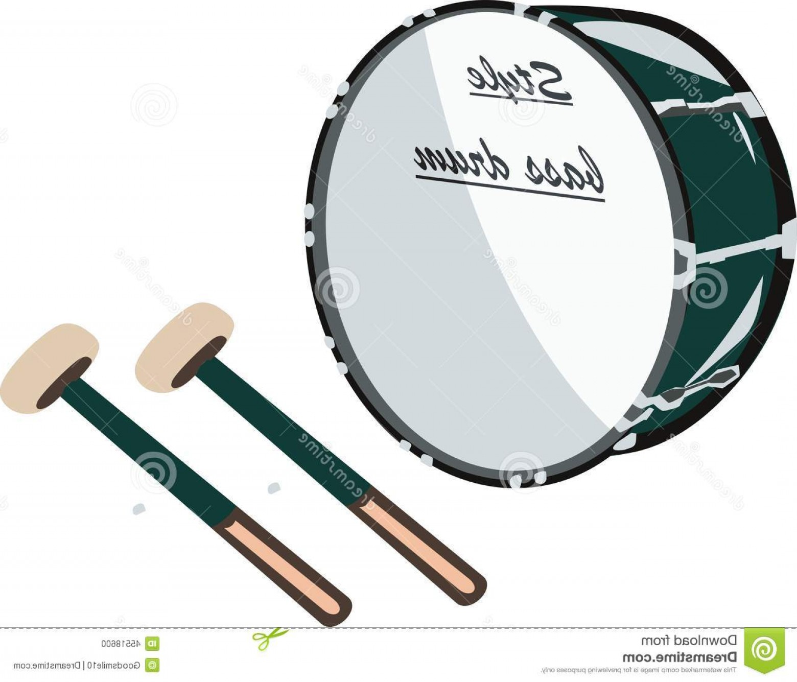 Vector Bass Drum Pedal: Stock Illustration Bass Drum Instrument Music Baas Music Image