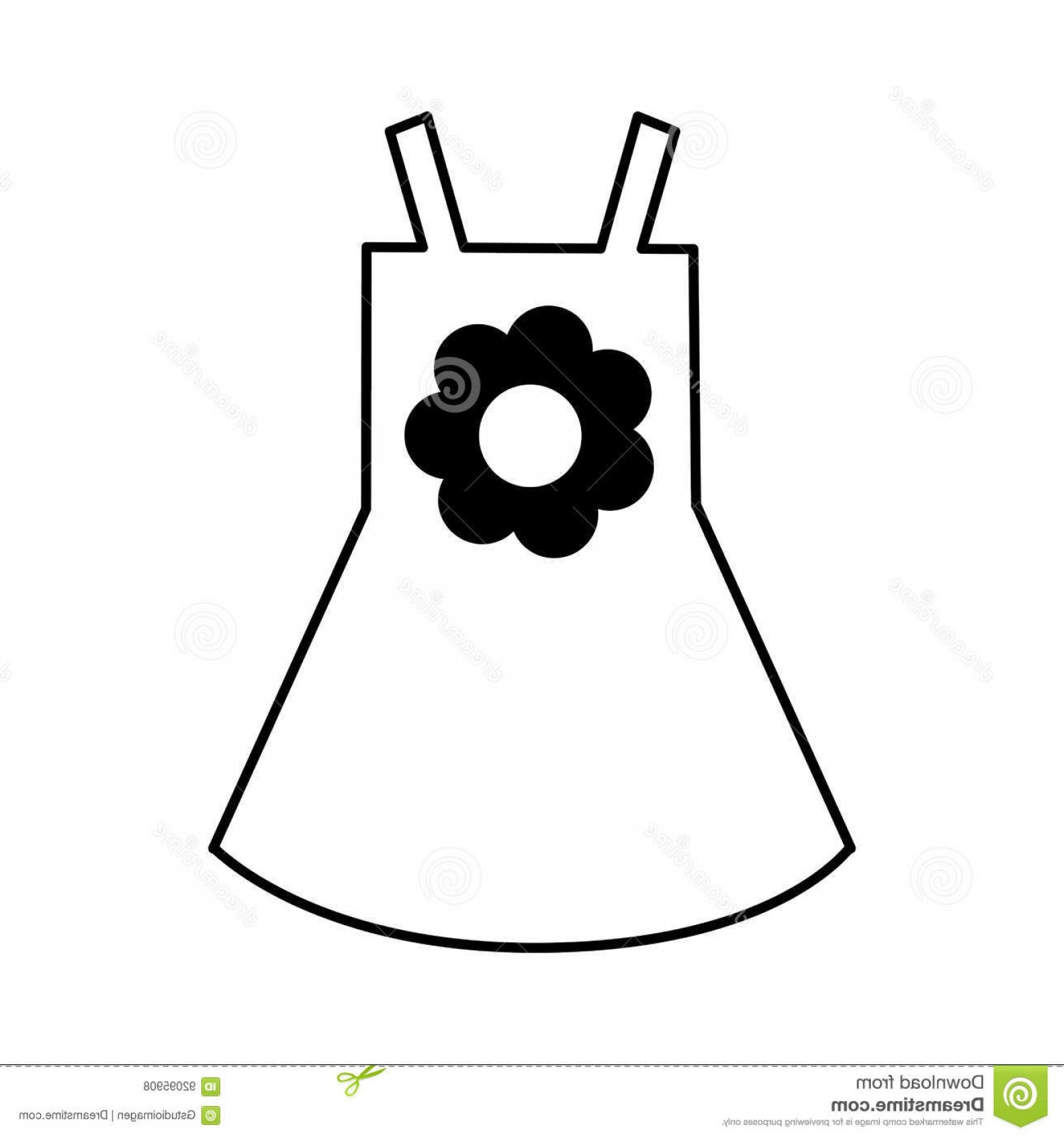 Vector Flower Girl Dresses: Stock Illustration Beach Girl Dress Flower Vector Illustration Design Image