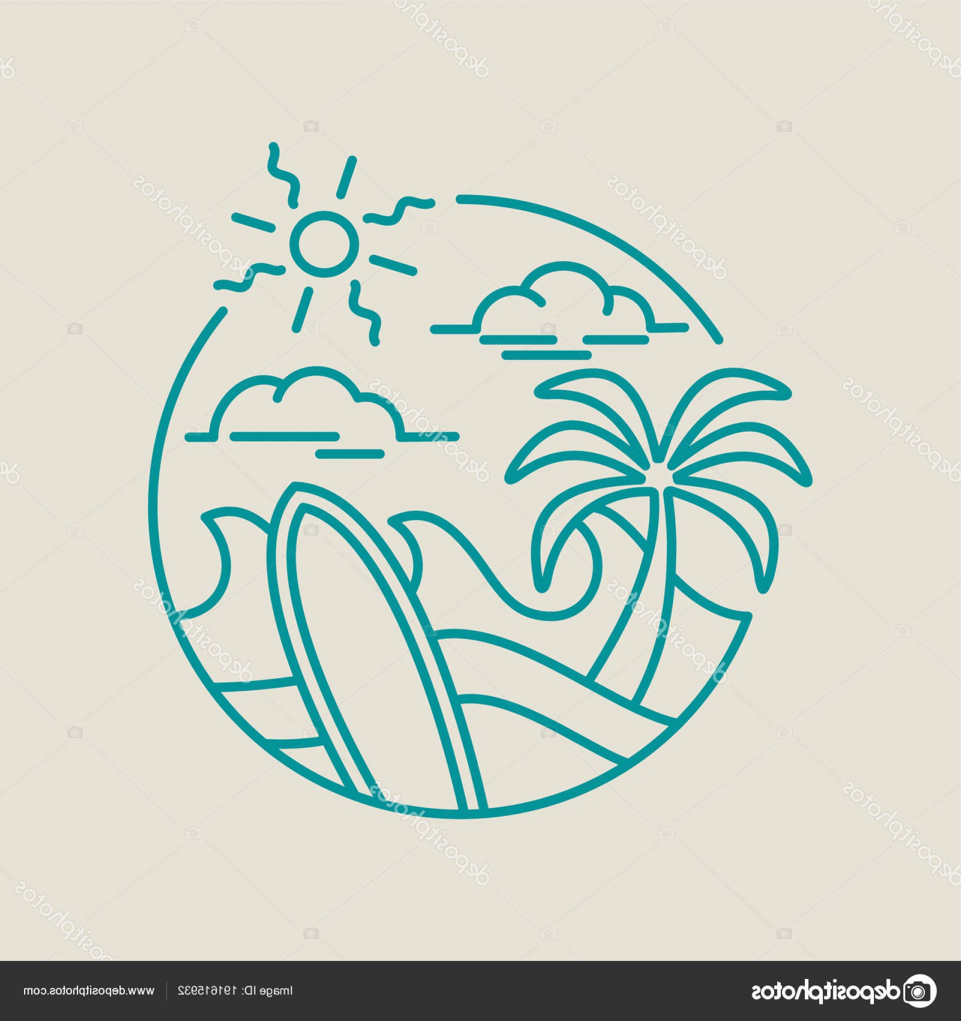 Beach Surf Vectors: Stock Illustration Beach Surf Icon For Summer
