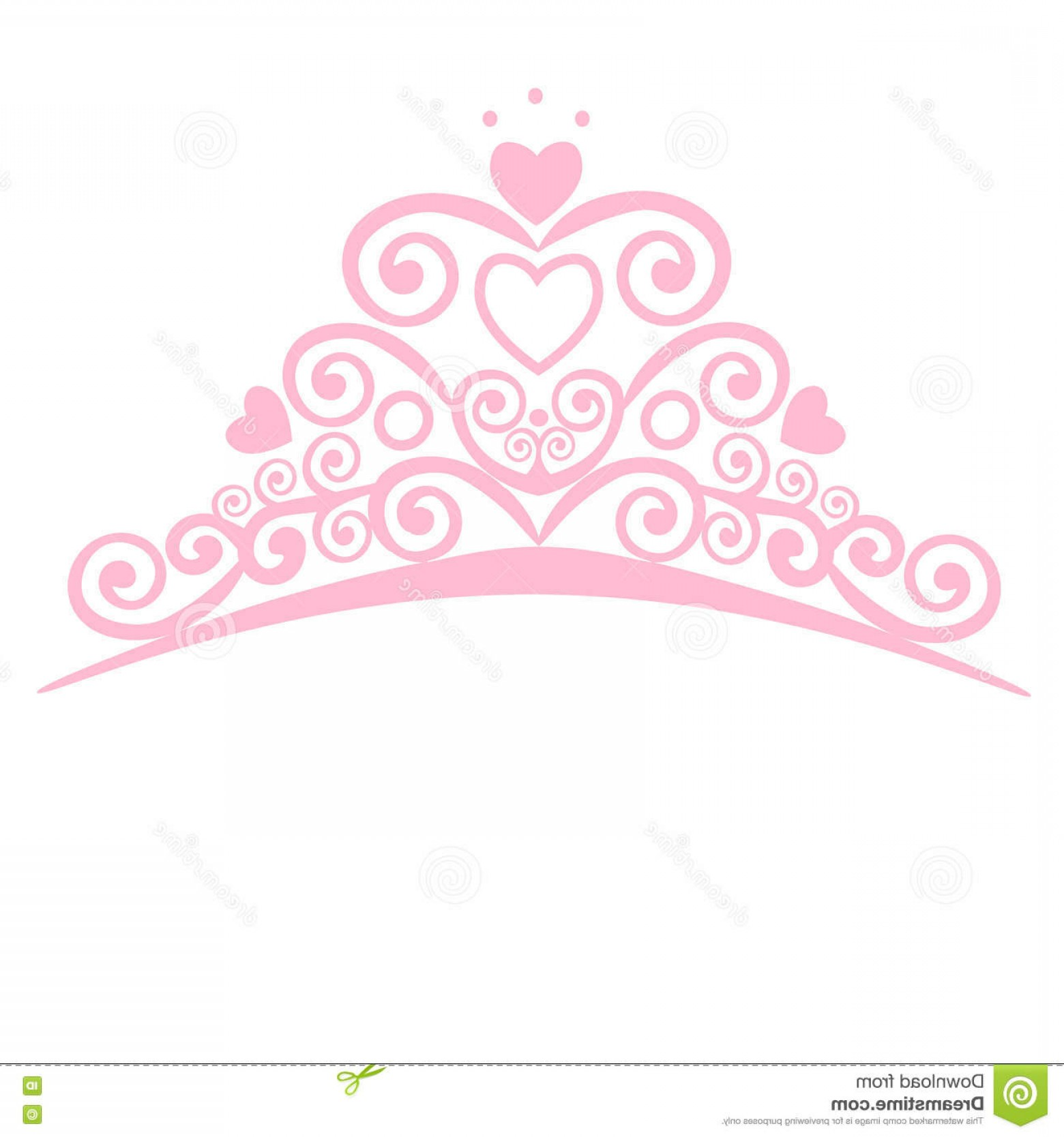 Baby Tiara Silhouette Vector: Stock Illustration Beautiful Shining Princess Crown Vector Illustration Design Elements Little Princess Image