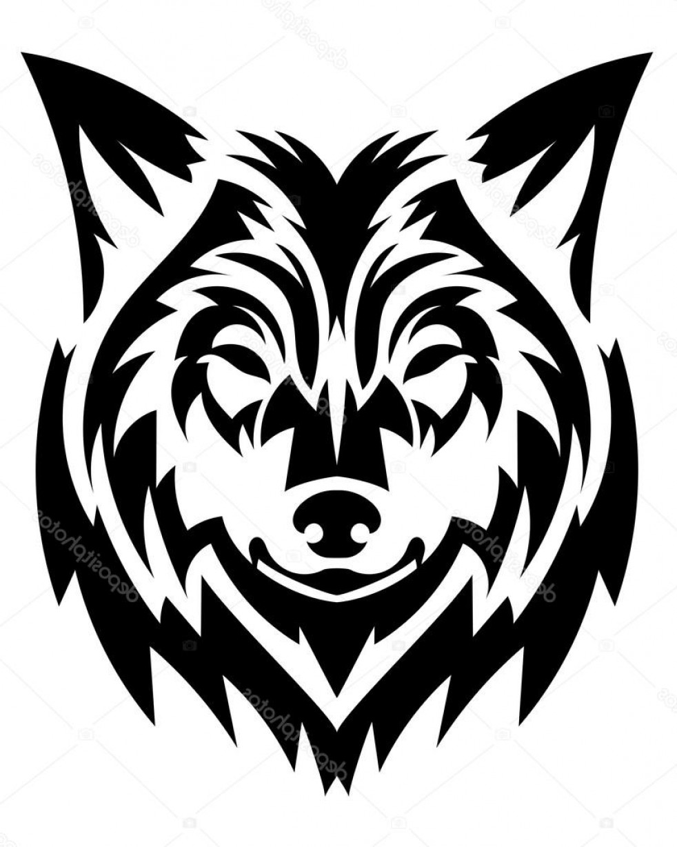 Calm Wolf Vector: Stock Illustration Beautiful Wolf Tattoo Vector Wolfs