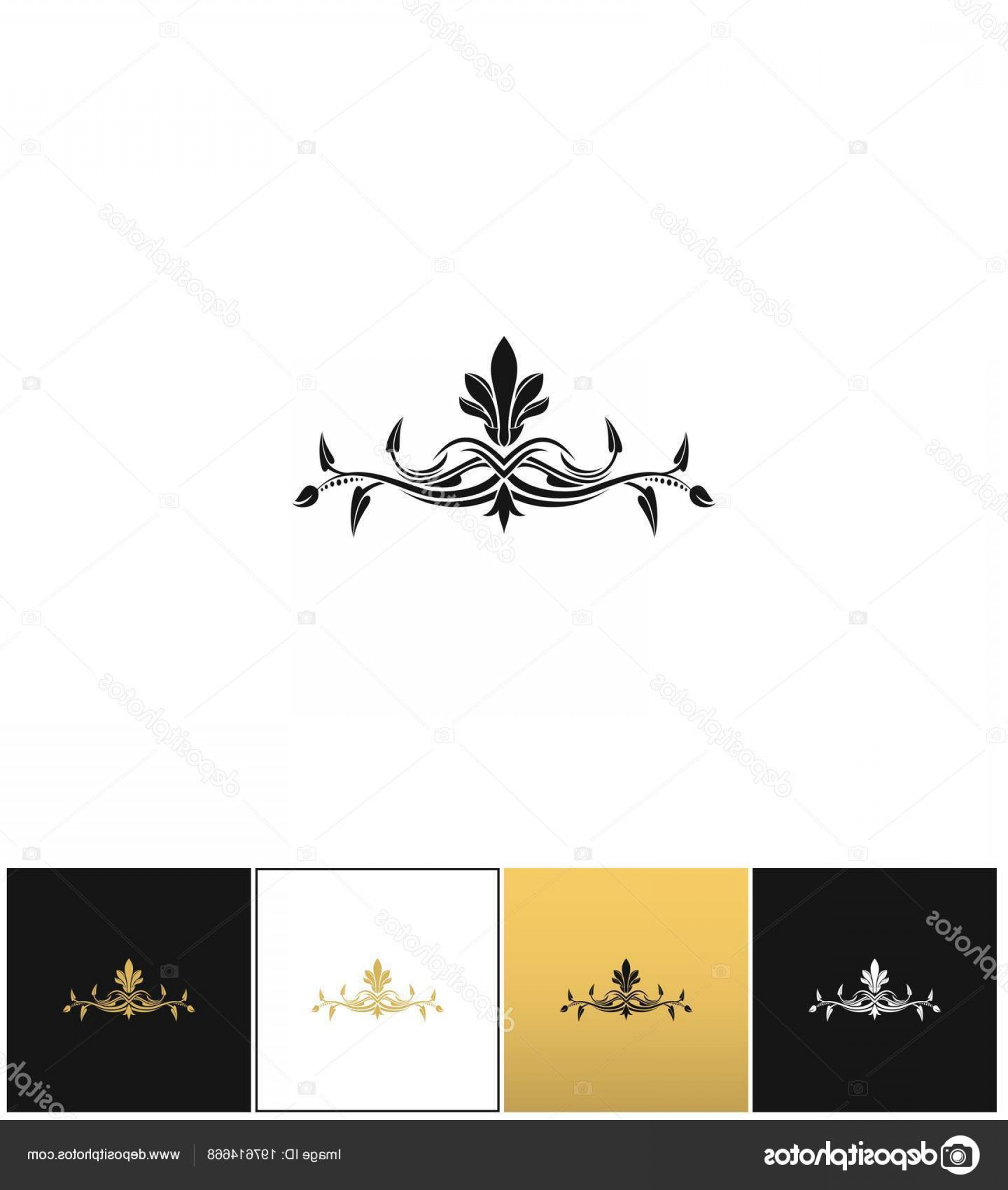 Floral Vector Icon: Stock Illustration Beauty Logo Or Beautiful Floral