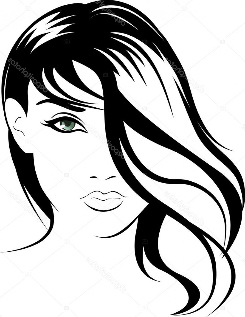 Black Beauty Vector Face: Stock Illustration Beauty Vector Face Girl Portrait