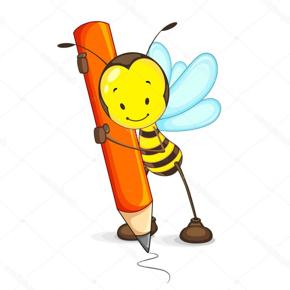 Bee Drawing Vector: Stock Illustration Bee Drawing With Pencil