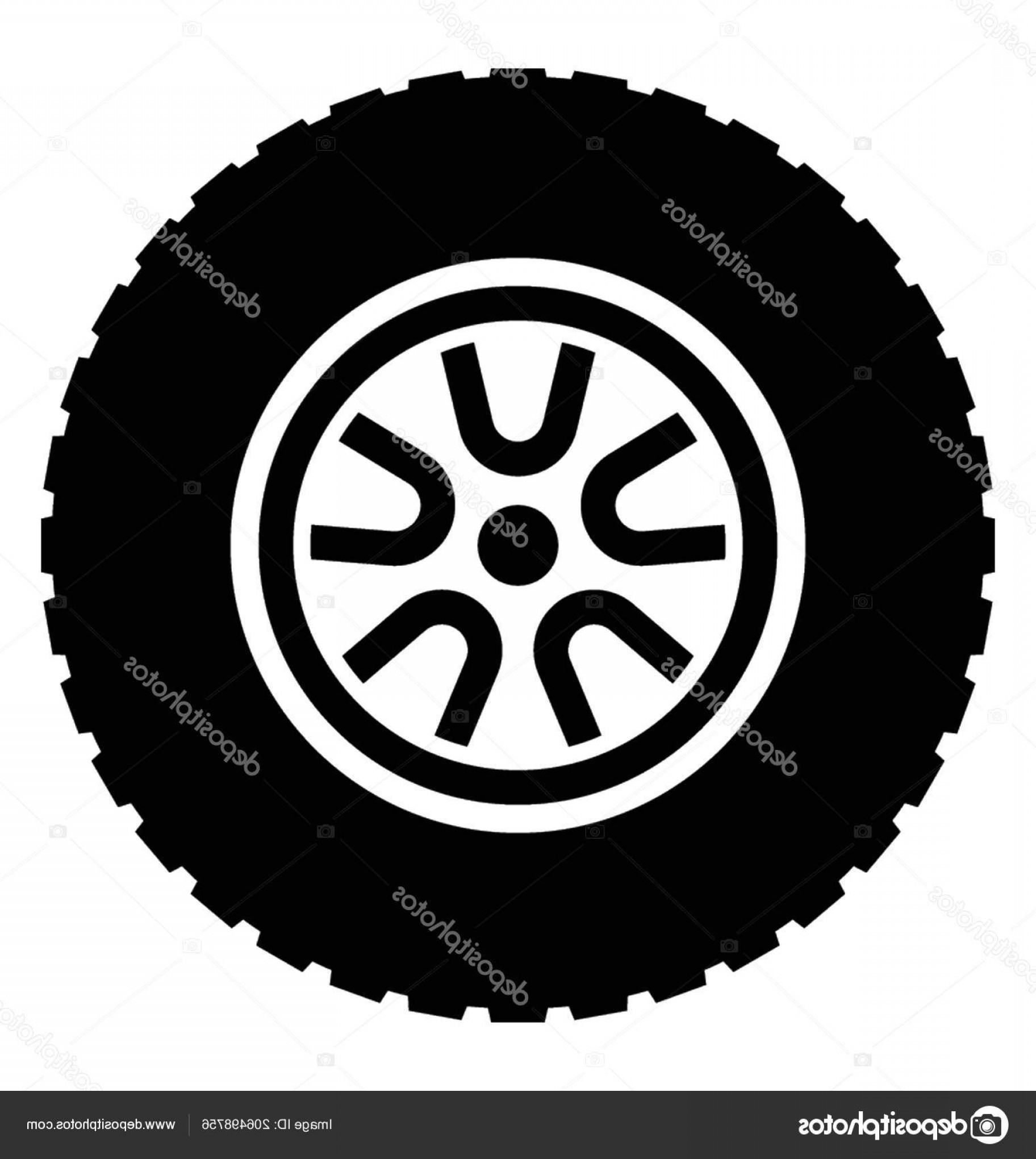 Jeep Tire Vector: Stock Illustration Big Rubber Tyre Pattrend Disk