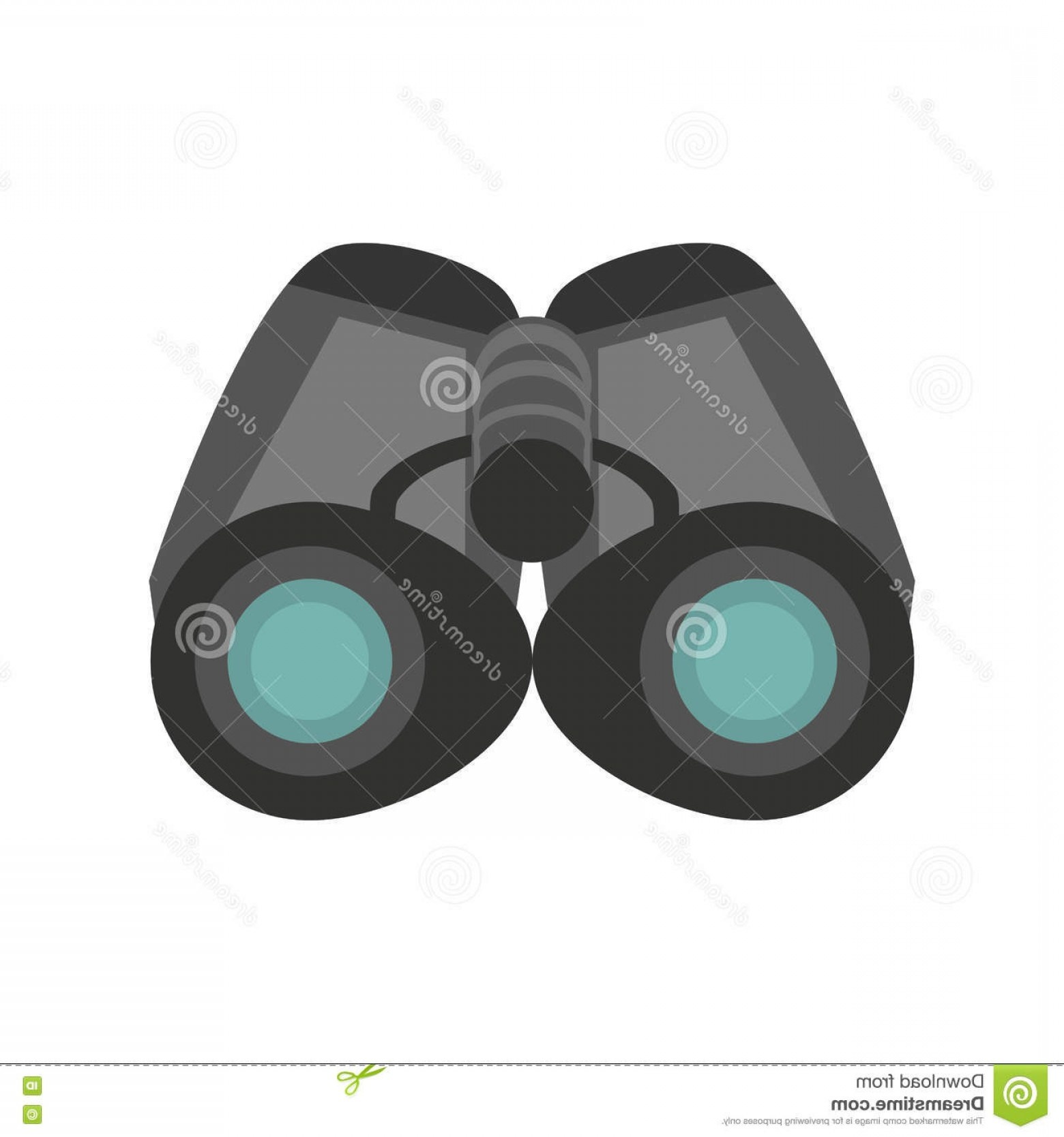 Hires Camera Lens Vector: Stock Illustration Binoculars Explorer Spyglass Observation Glasses Vector Illustration Eps Image