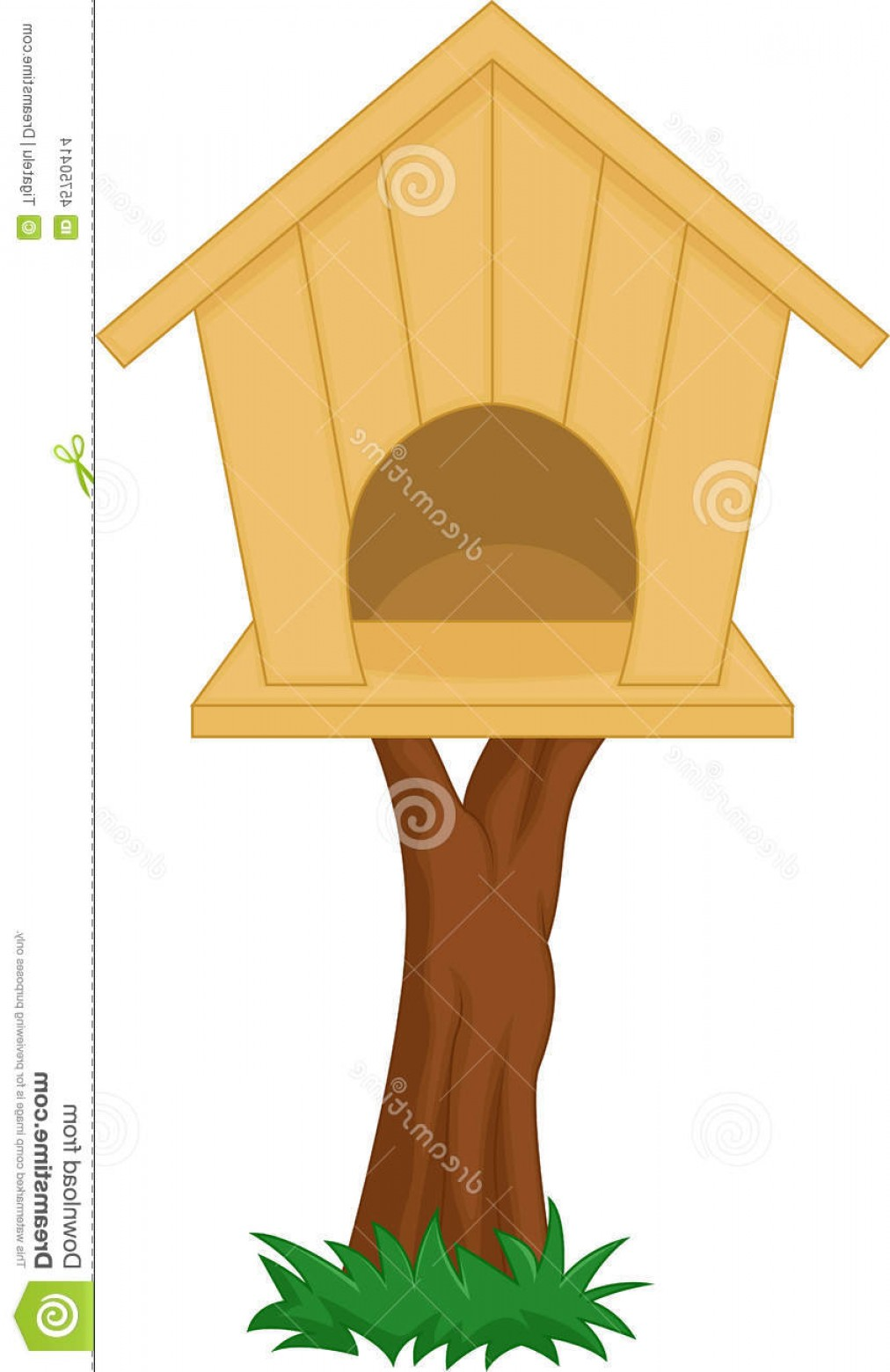 Vector Bird House: Stock Illustration Bird House Cartoon Illustration Image