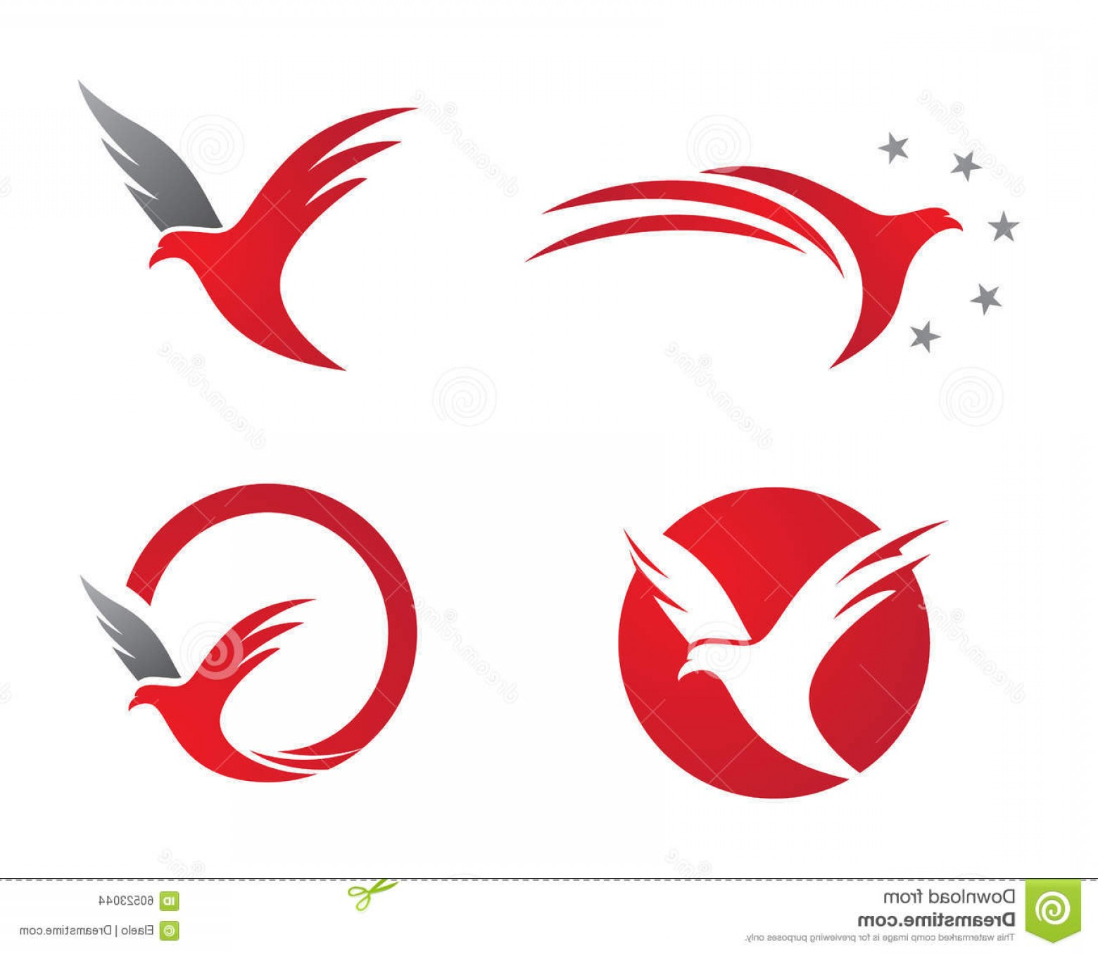 Falcon Wing Vector Art: Stock Illustration Bird Wings Logo Falcon Template Icons Image