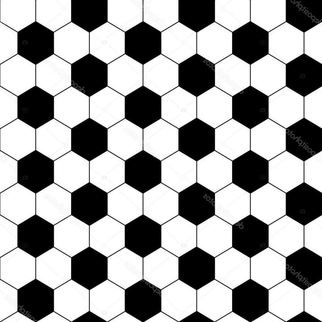 Vector Soccer Ball Pattern: Stock Illustration Black And White Hexagon Soccer