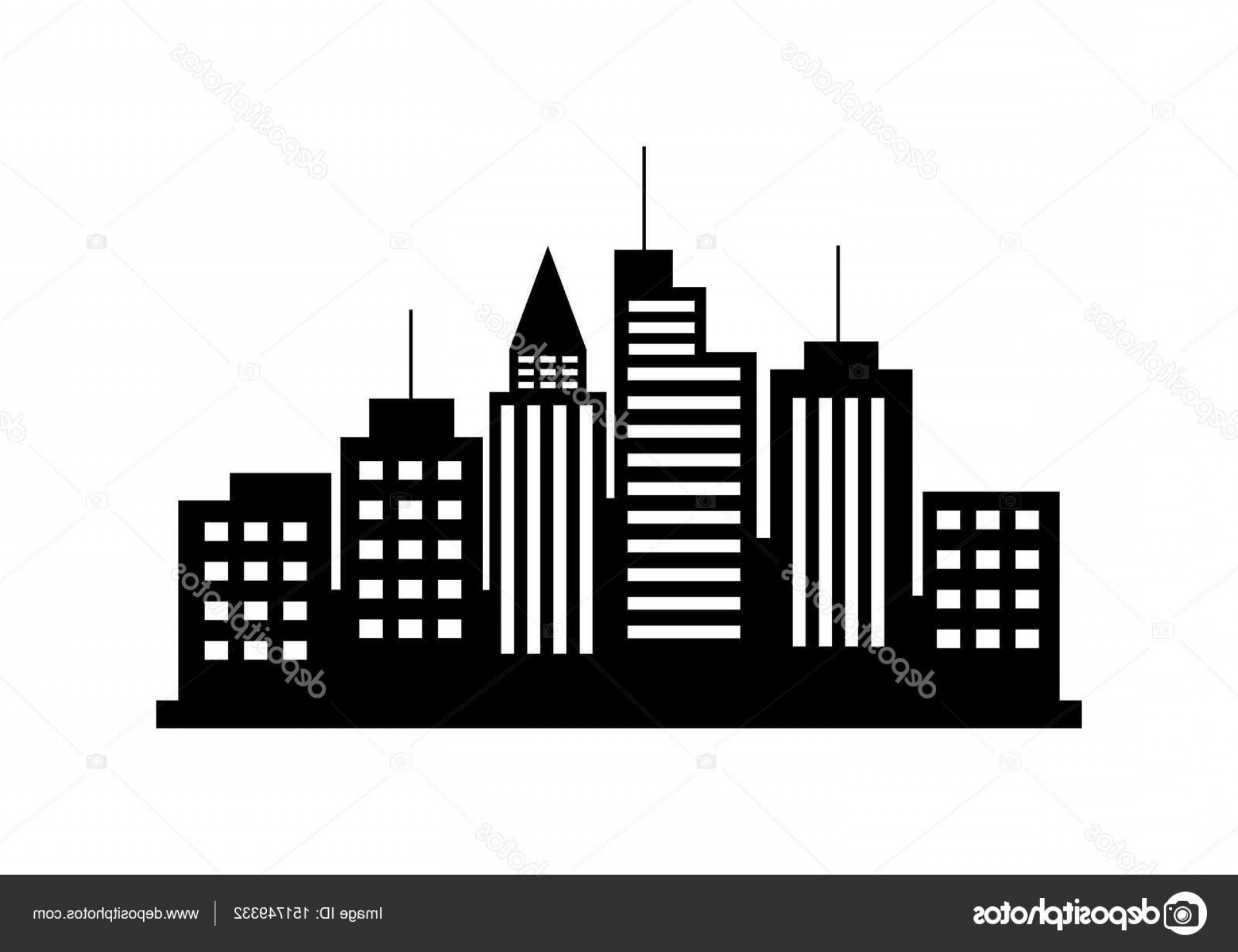 City Vector: Stock Illustration Black City Vector Icon On