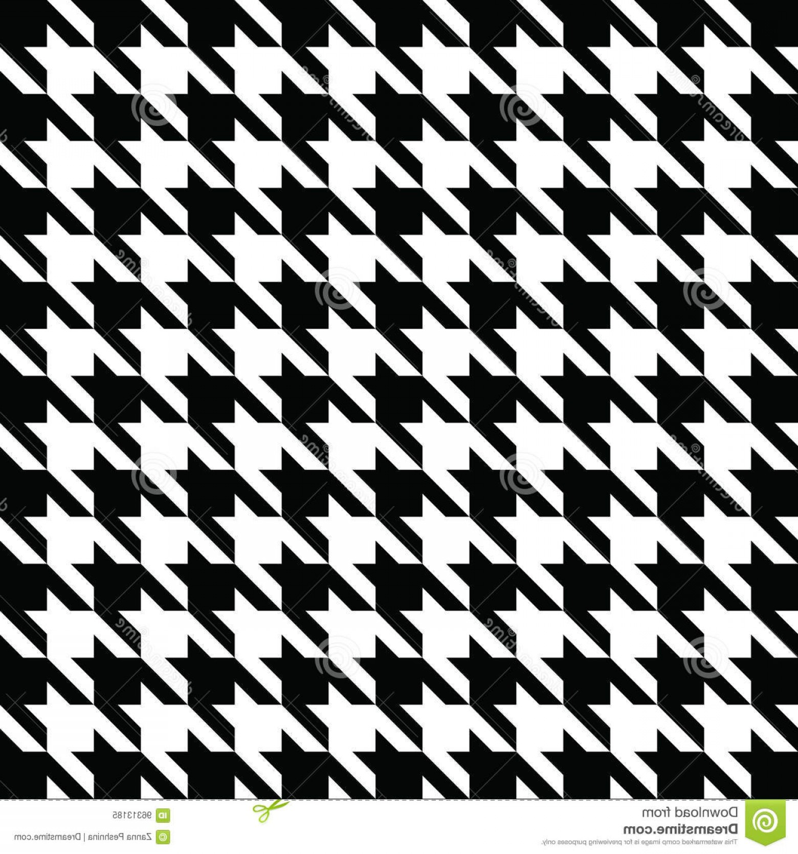 Houndstooth Vector: Stock Illustration Black Houndstooth Pattern Vector Classical Checkered Textile Design White Image