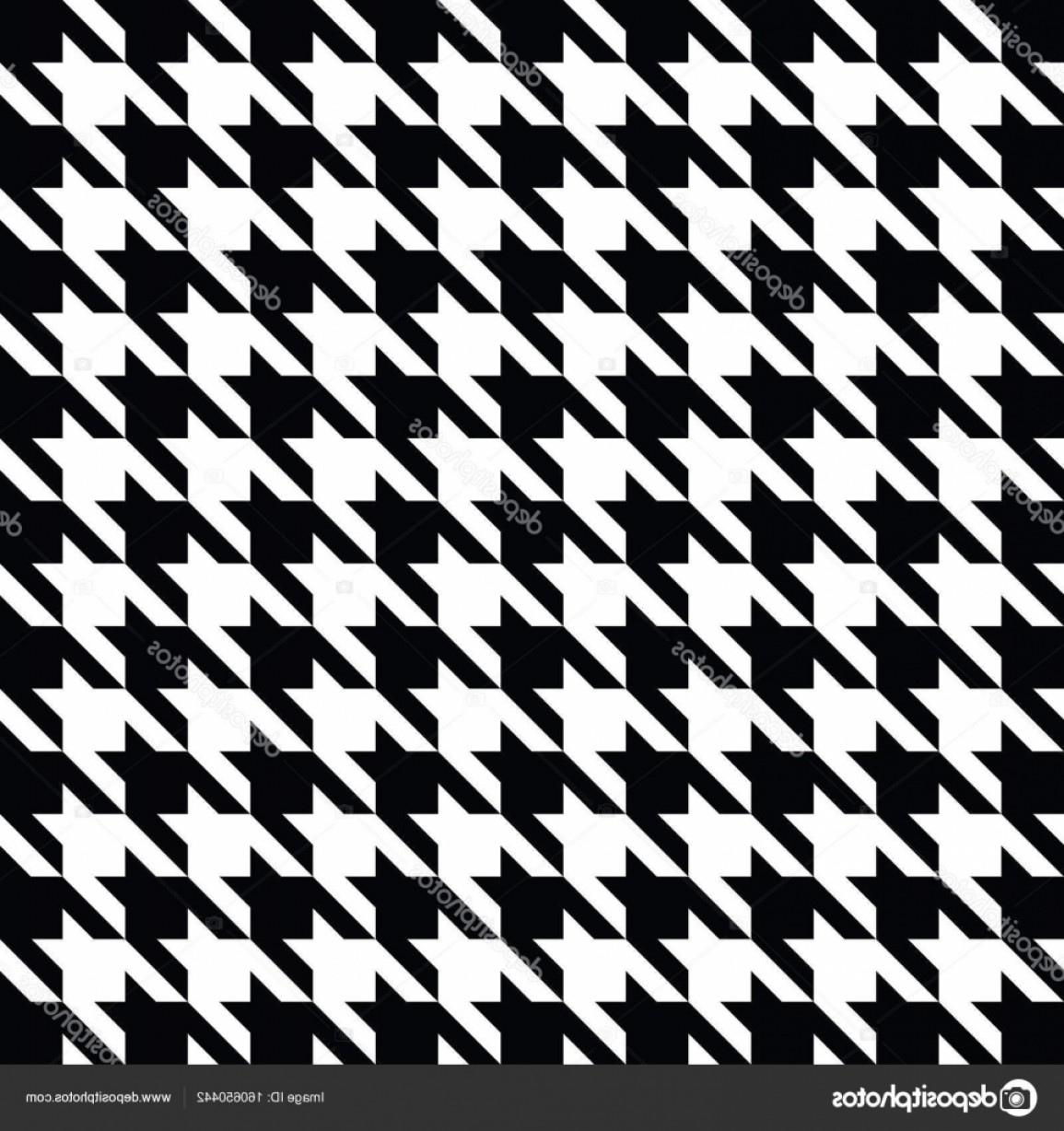 Houndstooth Vector: Stock Illustration Black Houndstooth Pattern Vector Classical