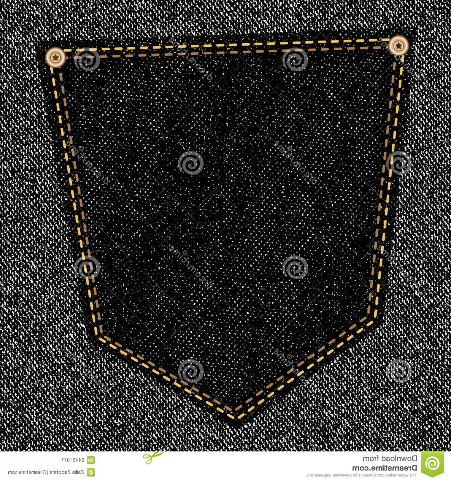 Vector Black Jeans: Stock Illustration Black Jeans Pocket Back Close Up As Background Vector Eps Image