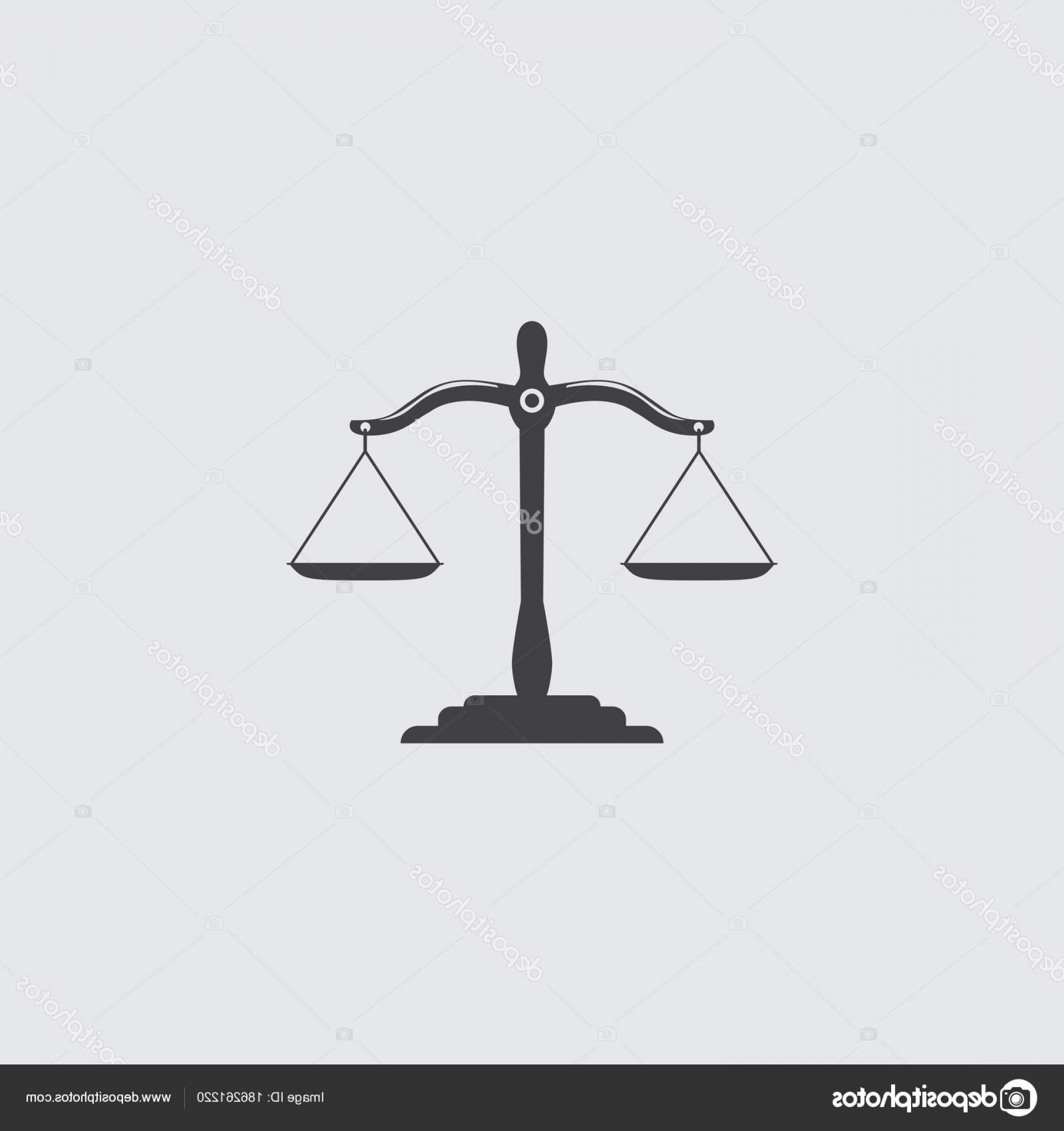 Lawyer Scale Vector: Stock Illustration Black Justice Scales Icon Law