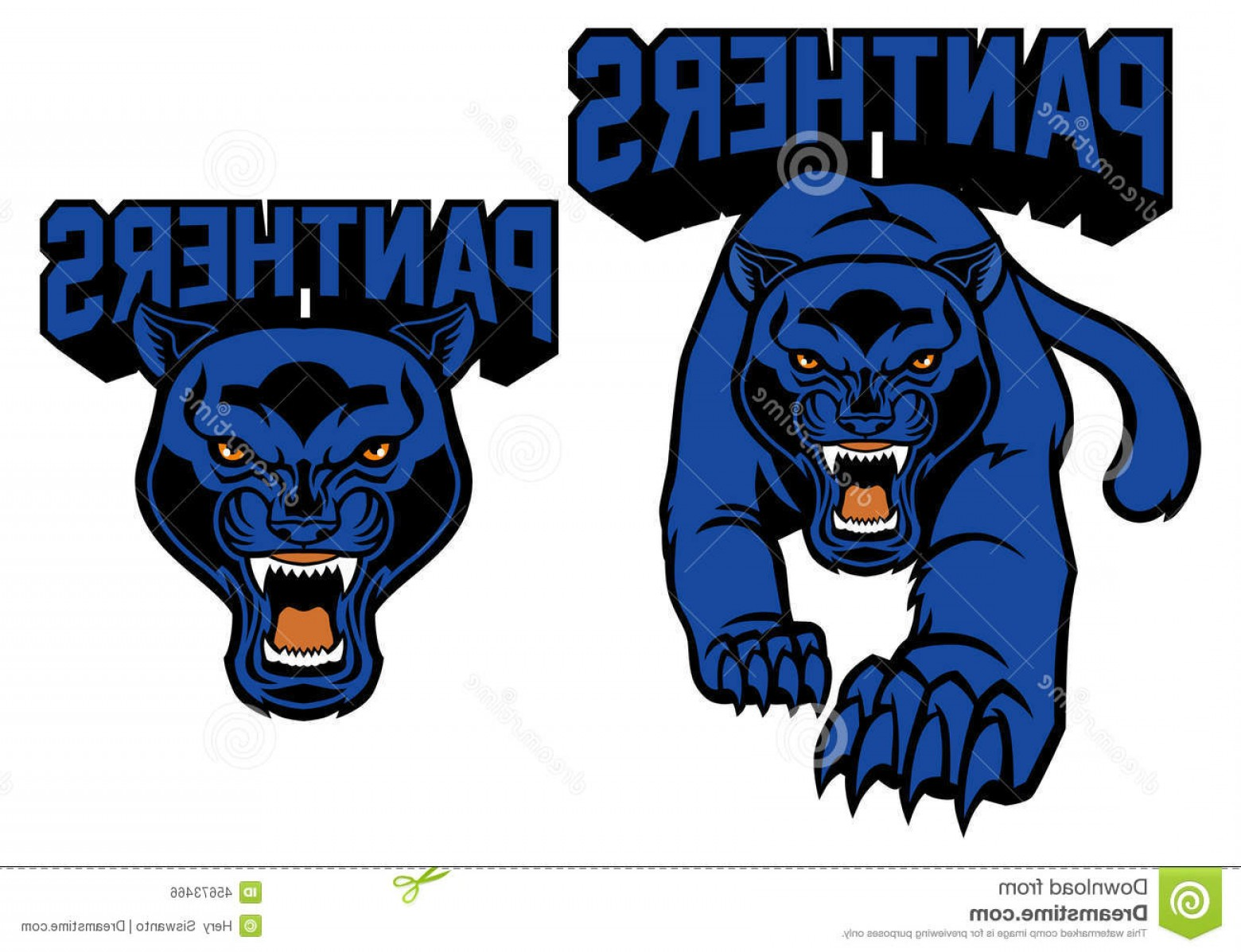 Panther Mascot Vector Sports: Stock Illustration Black Panther Mascot Vector Image