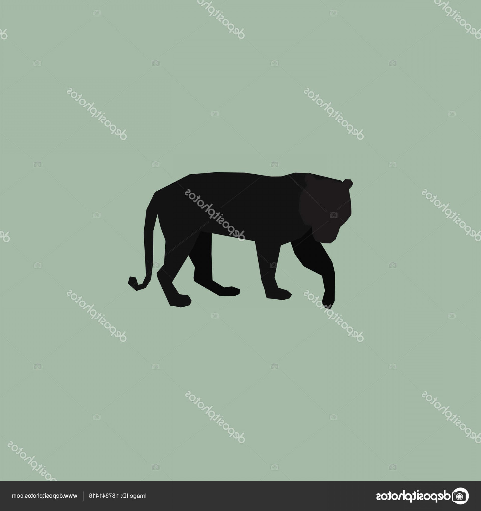 Panther Vector: Stock Illustration Black Panther Vector Logo