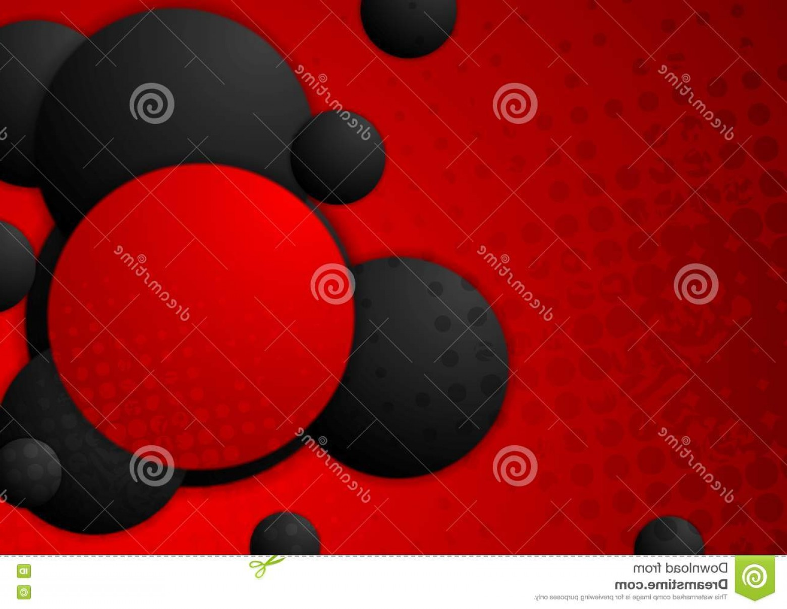 Grunge Background Vector Graphic: Stock Illustration Black Red Circles Grunge Background Vector Graphic Design Image