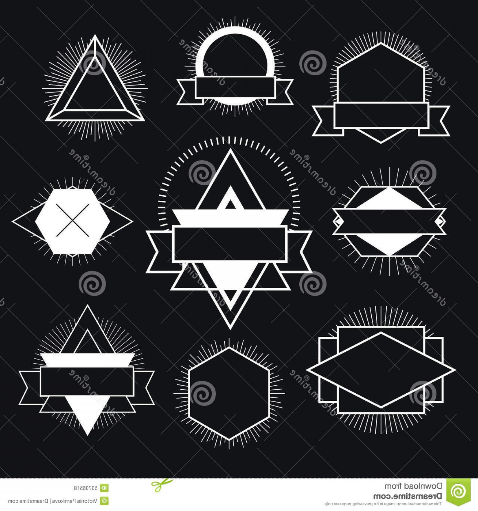 Free Vector Hipster: Stock Illustration Black White Hipster Logo Vector Isolated Illustration Image