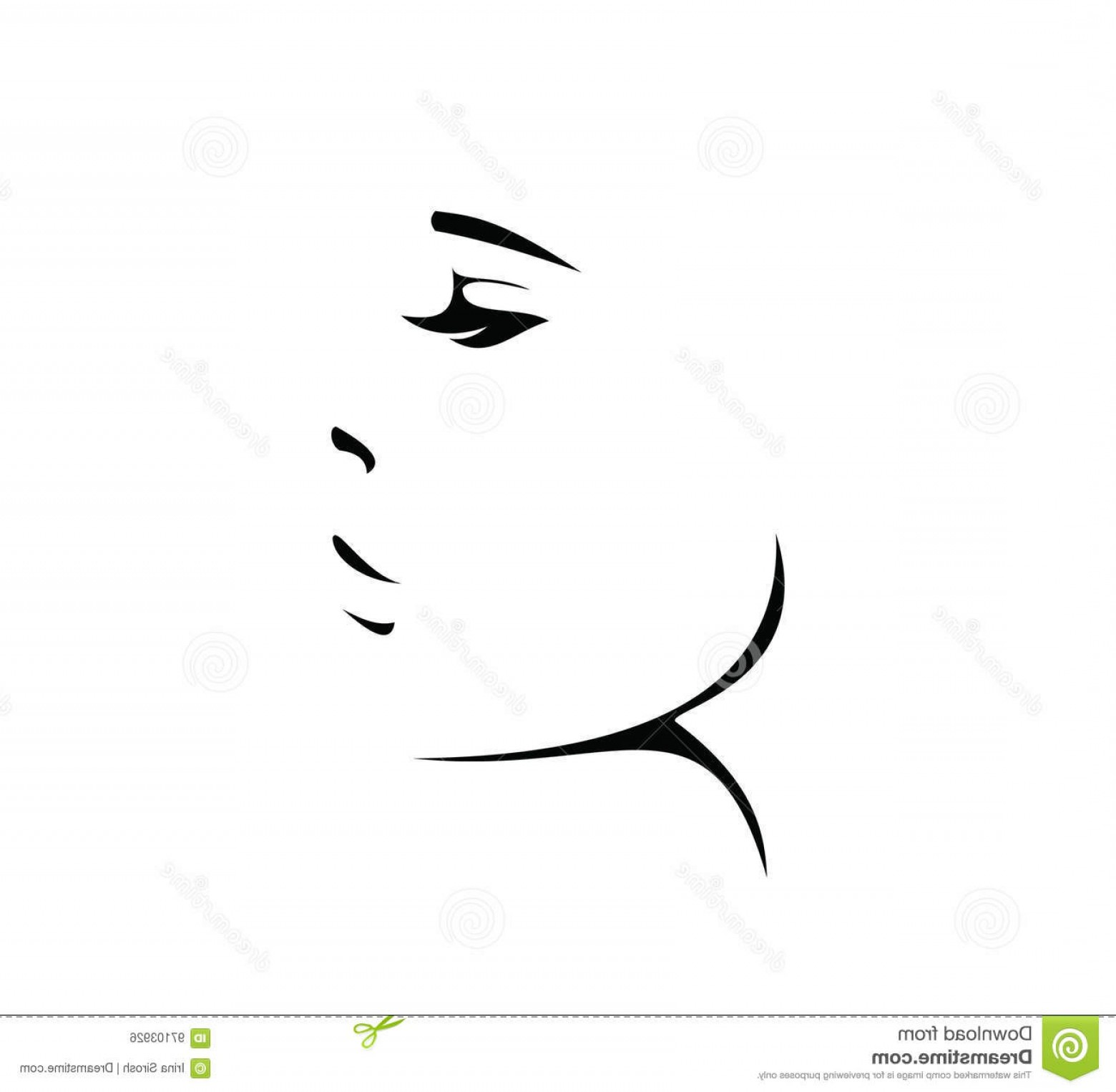 Black Beauty Vector Face: Stock Illustration Black Woman Face Icon Vector Logo Sign Silhouette Image