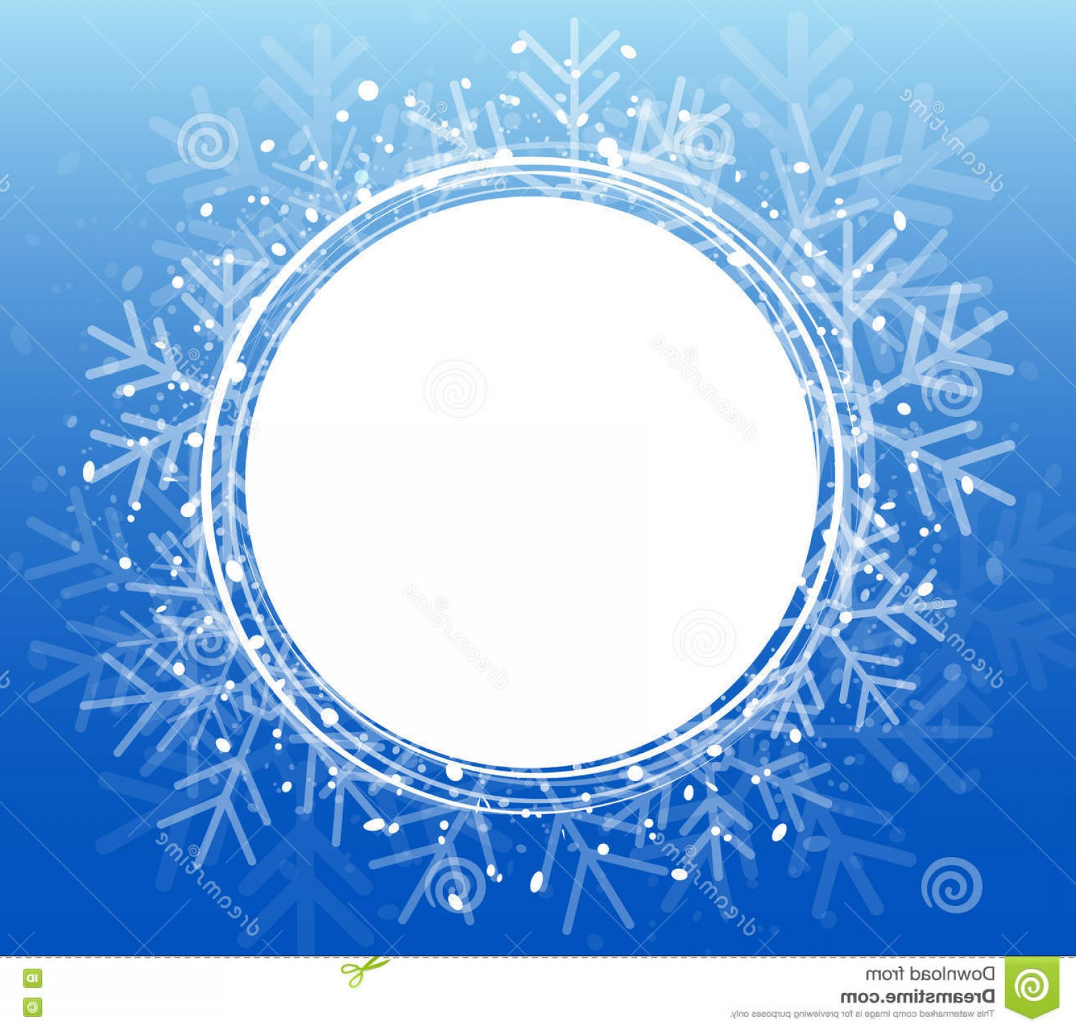 Vector Snowflake Wreath: Stock Illustration Blue Christmas Snowflake Wreath Vector Illustration Eps Background Image