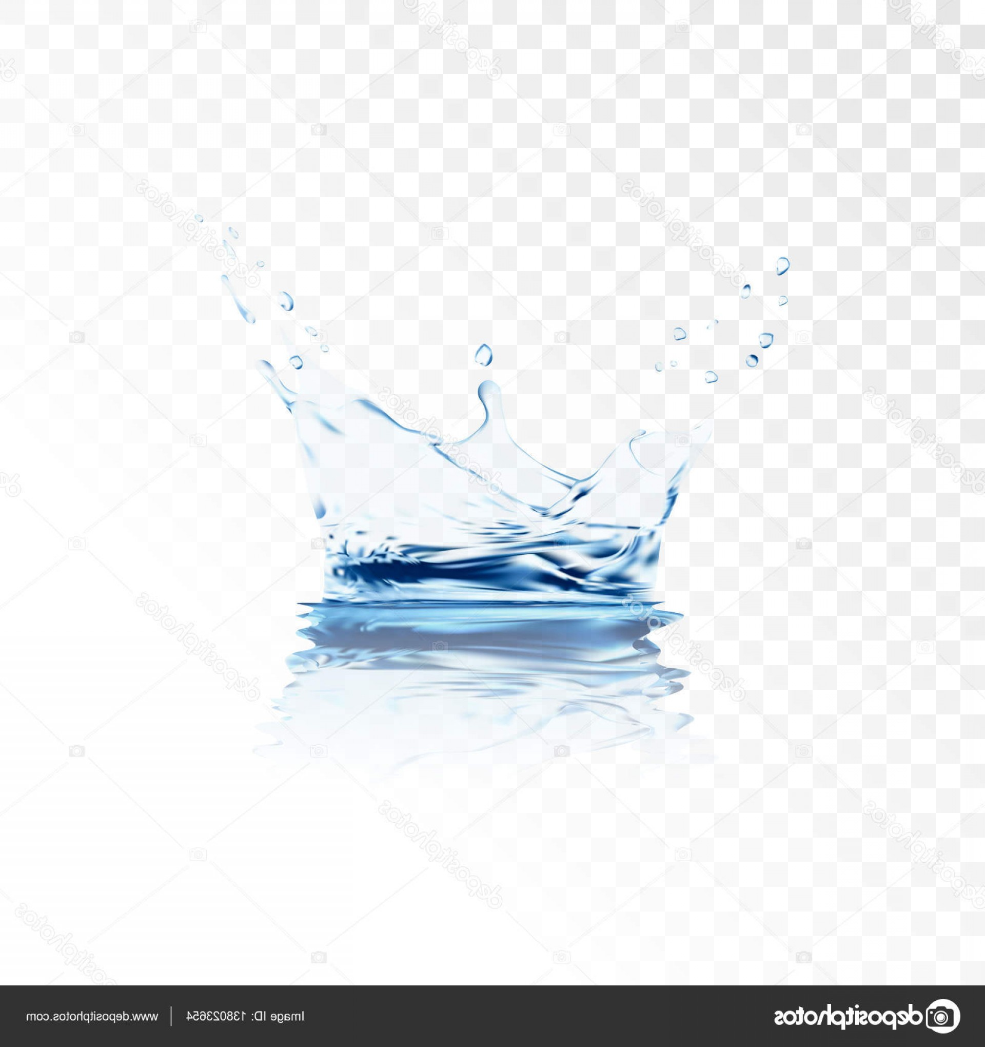 Transparent Water Vector: Stock Illustration Blue Transparent Water Vector Splash