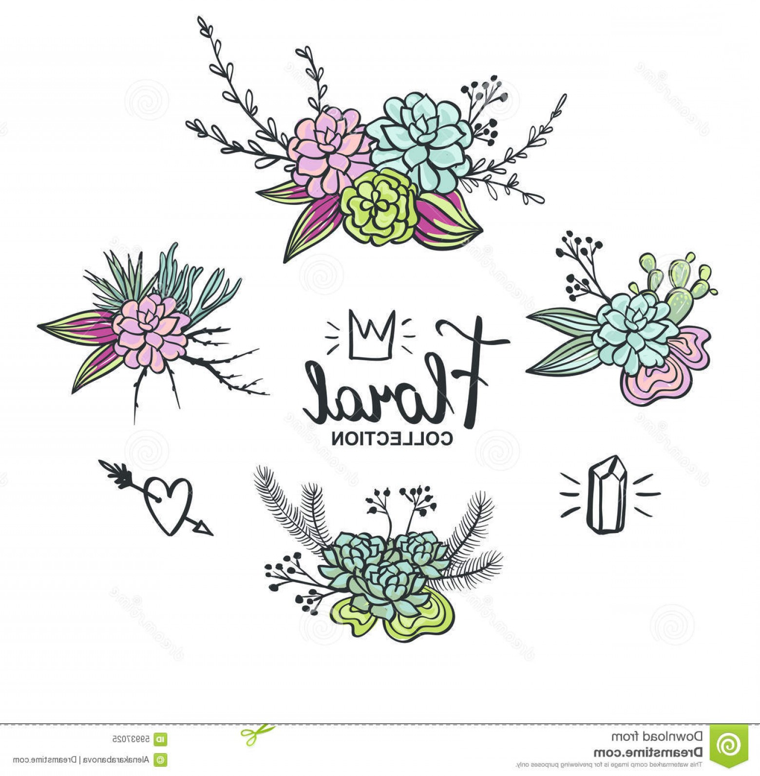 Stock illustration boho wedding succulents decoration floral vector bohemian flowers vector stock illustration boho wedding succulents decoration floral vector set image junglespirit Gallery