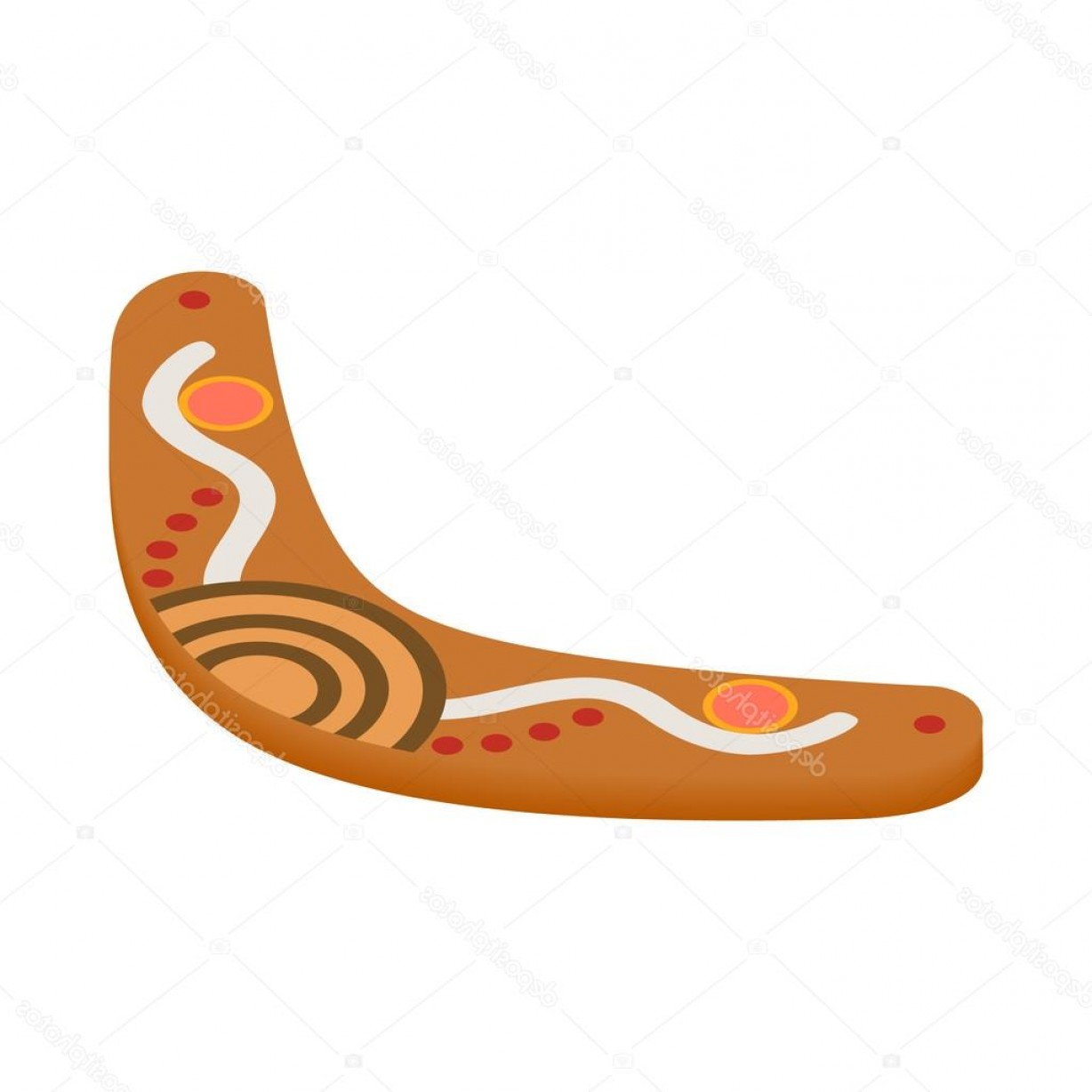Boomerang Vector Curve: Stock Illustration Boomerang Icon Isometric D Style