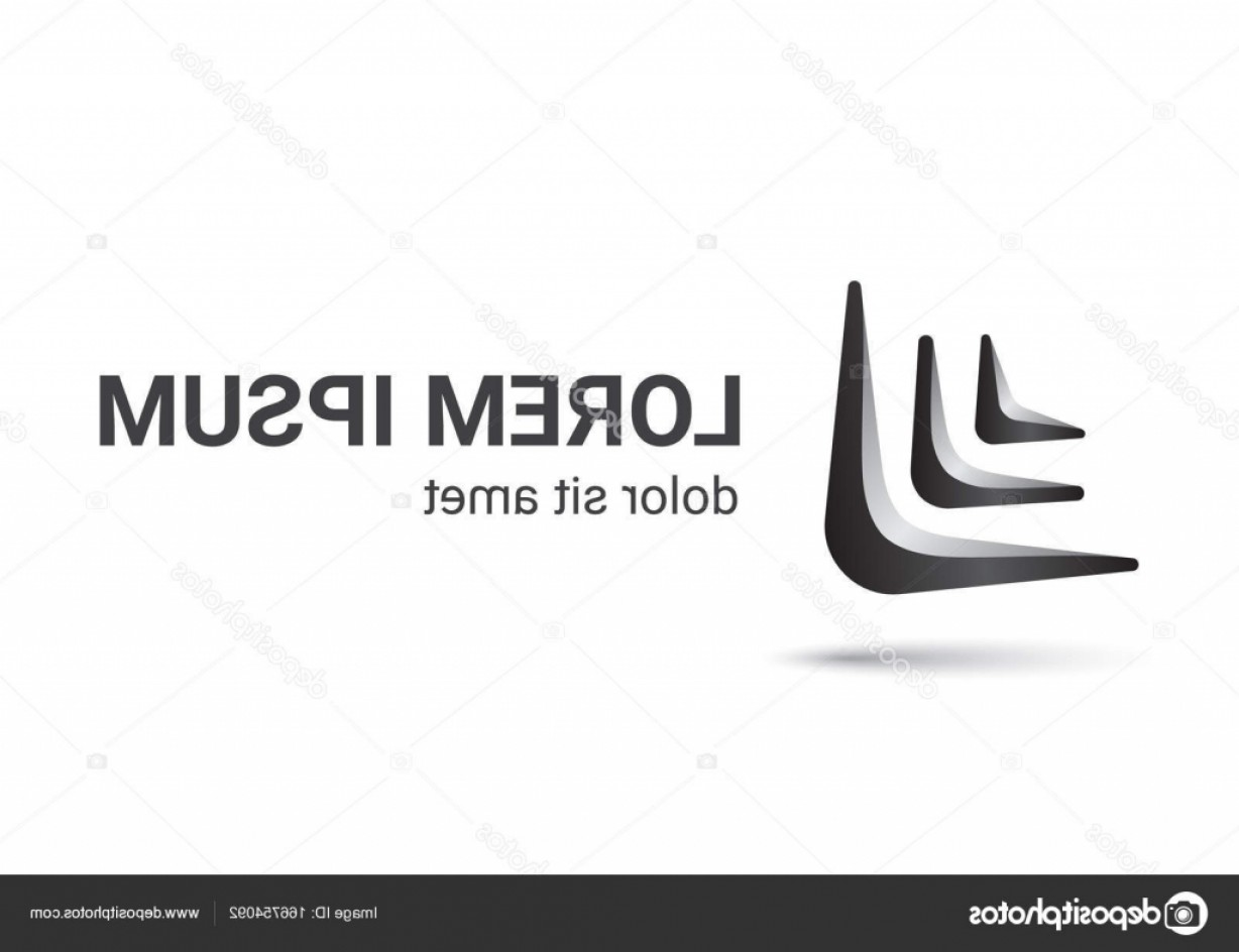 Boomerang Vector Curve: Stock Illustration Boomerang Logo Curve Style Design