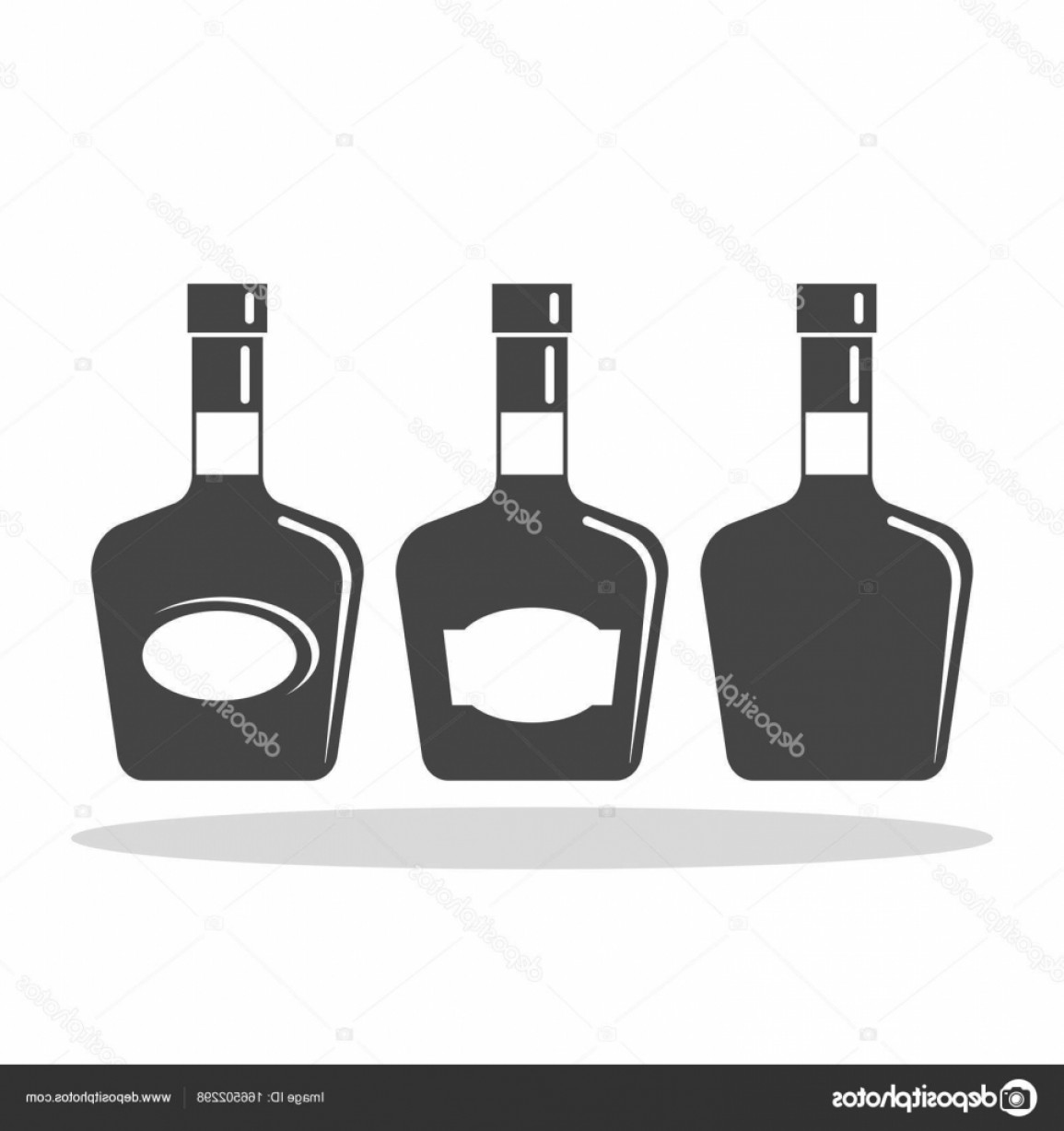 Alcohol Vector: Stock Illustration Bottle Of Alcohol Vector Flat